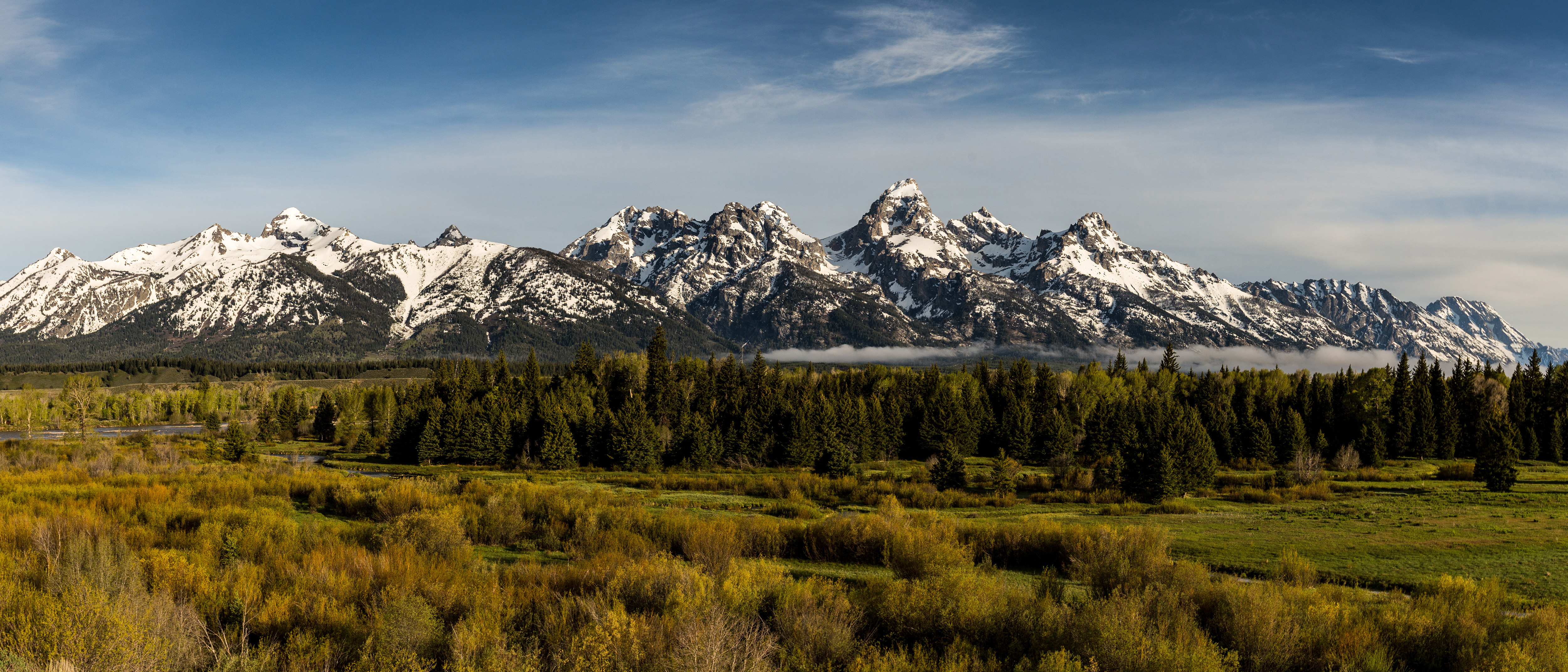 snow capped mountains landscape in grand teton national park image