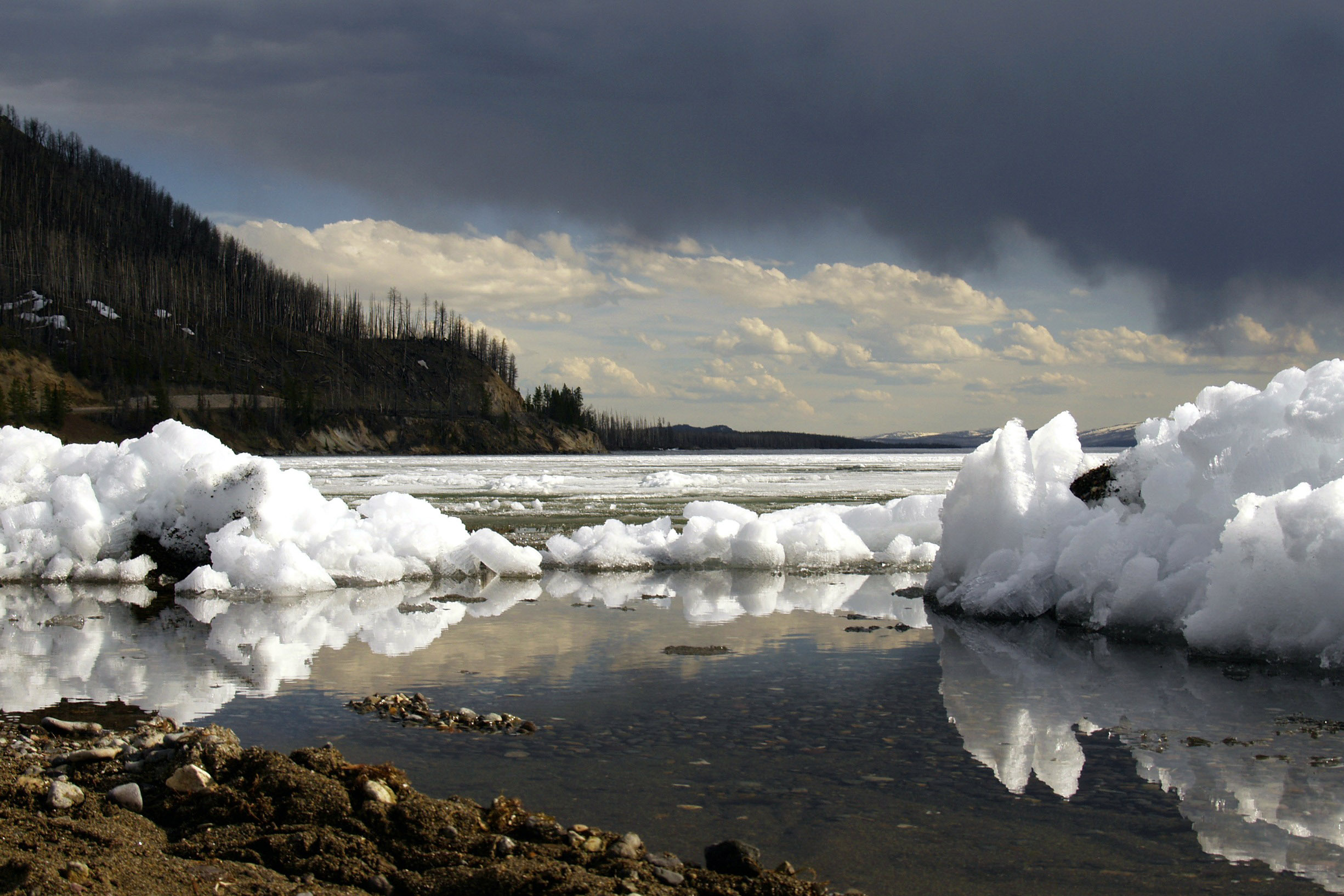 Yellowstone Lake In The Winter At Yellowstone National Park