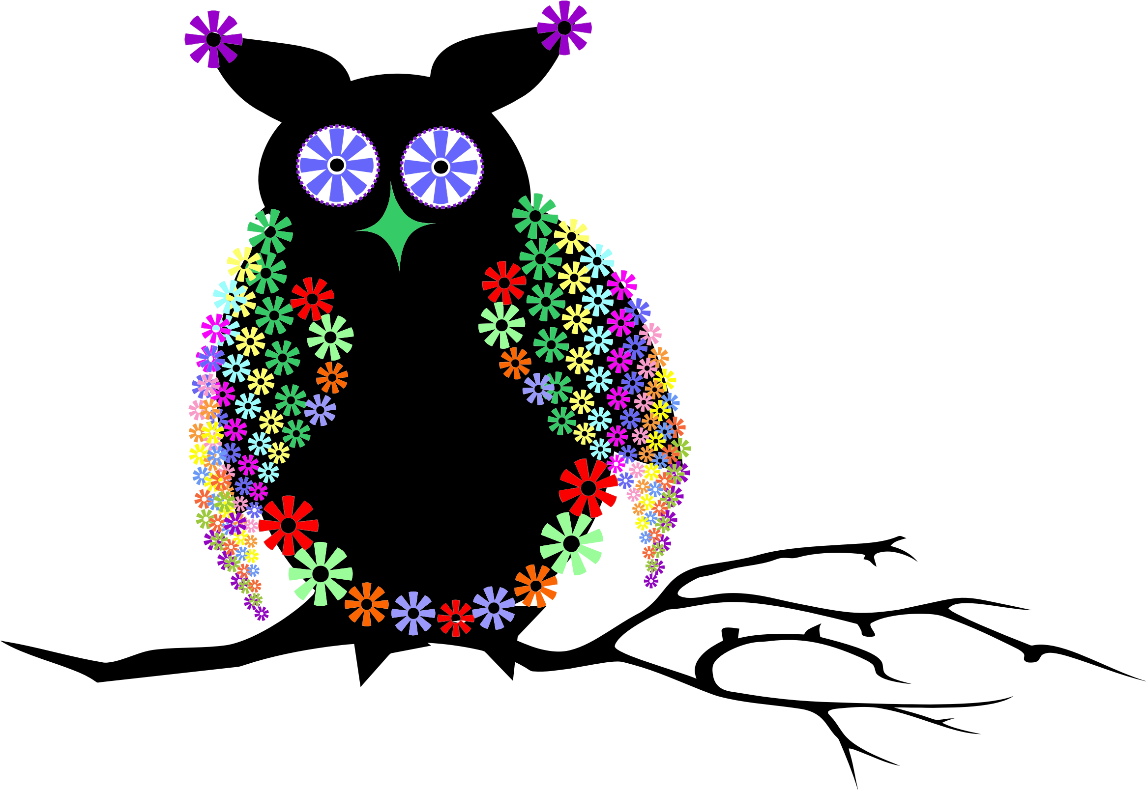 vector abstract owl clipart floral domain albums 1995 resolution