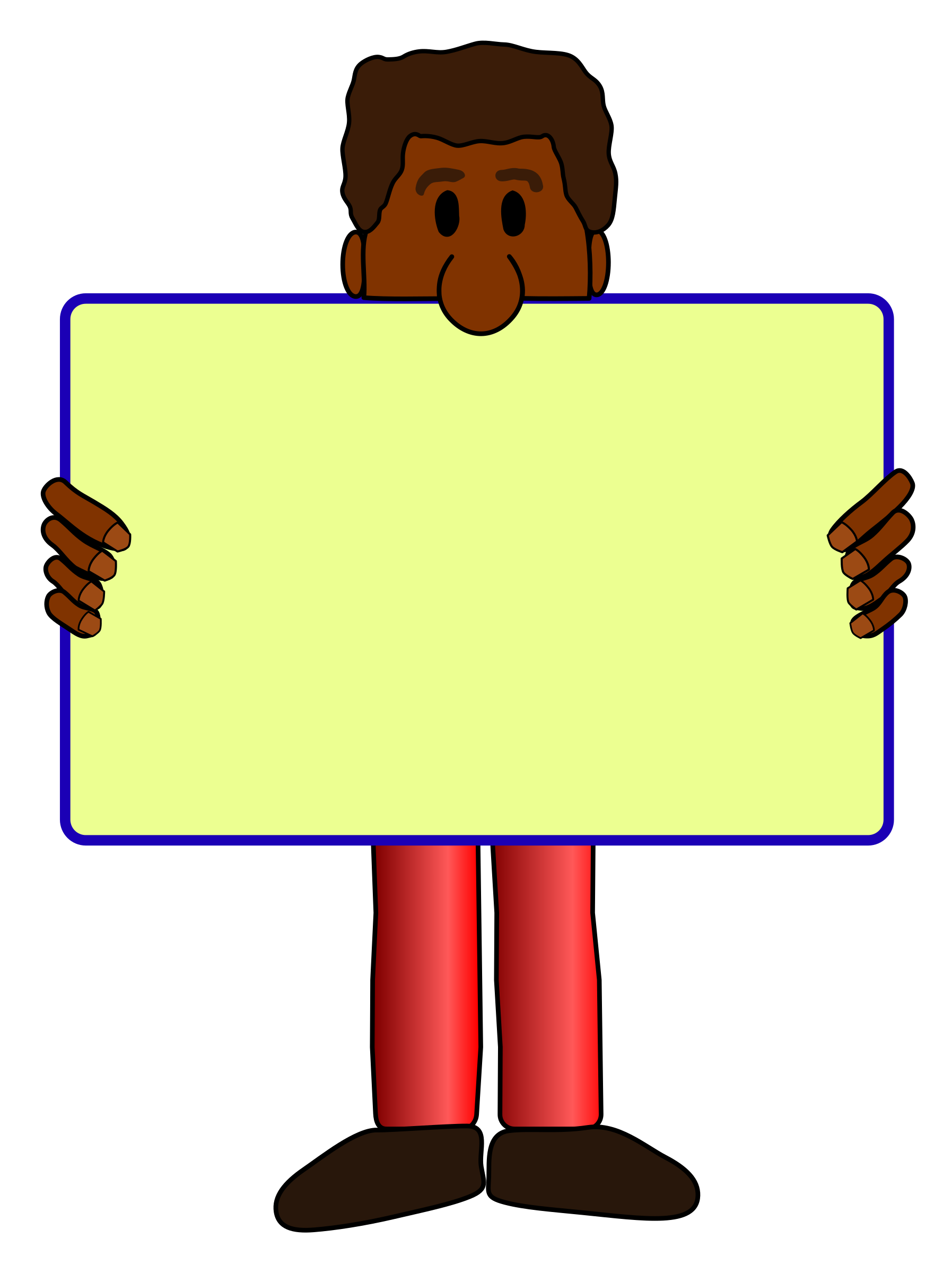 African American Man with yard sign vector clipart image ...