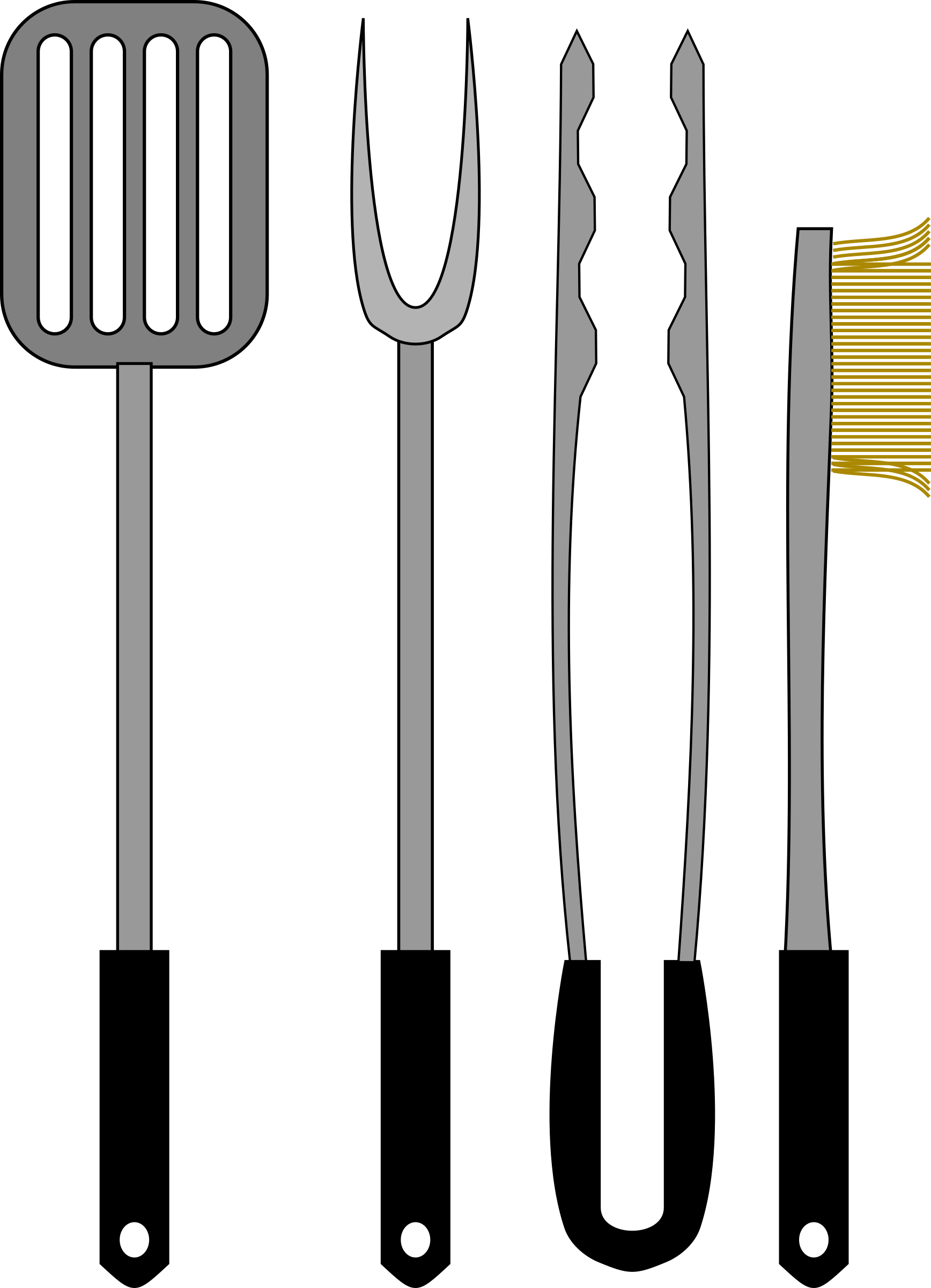 Barbecue Tools Vector Graphics Image Free Stock Photo