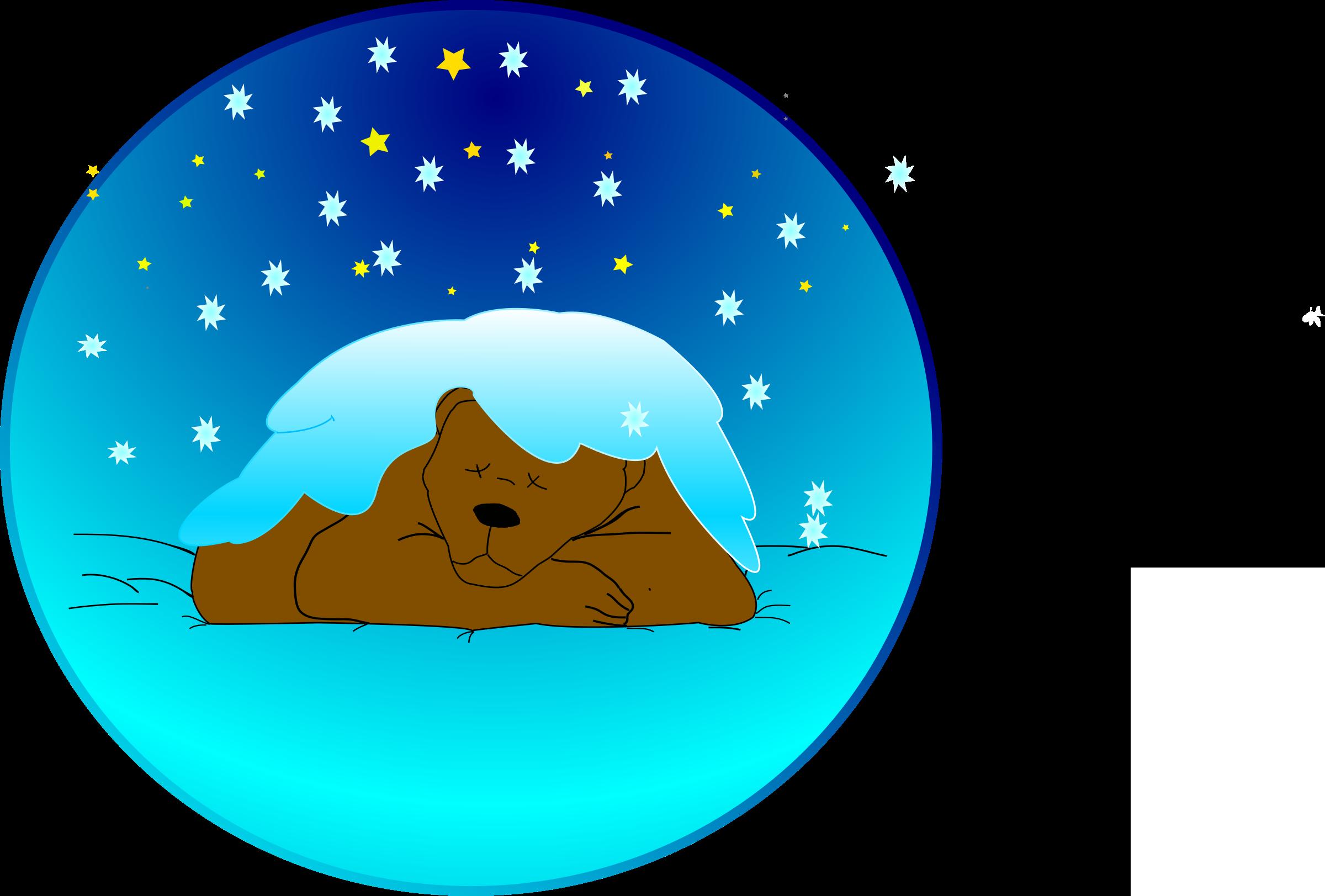 bear sleeping under the snow vector clipart image free stock photo rh goodfreephotos com snow vector free snow vector animation