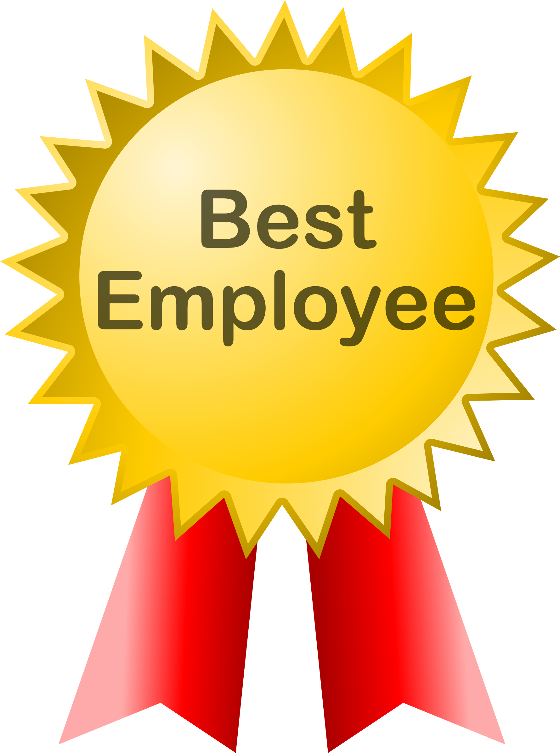 best employee badge award vector clipart image free stock photo