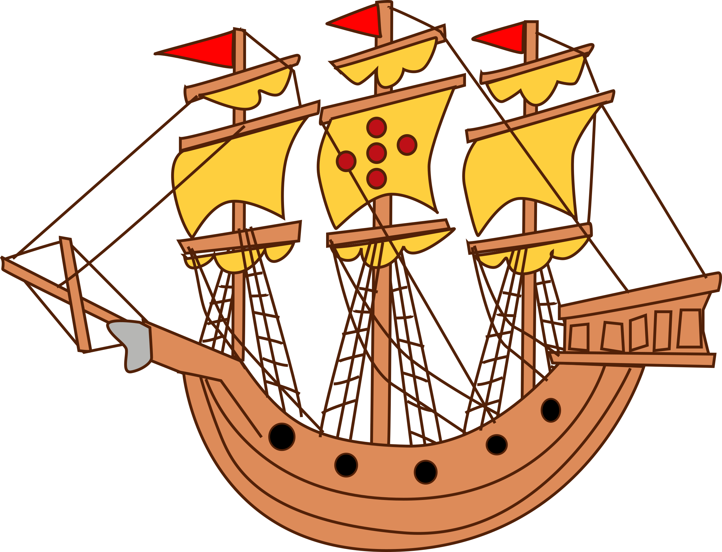 Big Sailing Ship Vector Clipart image - Free stock photo ...
