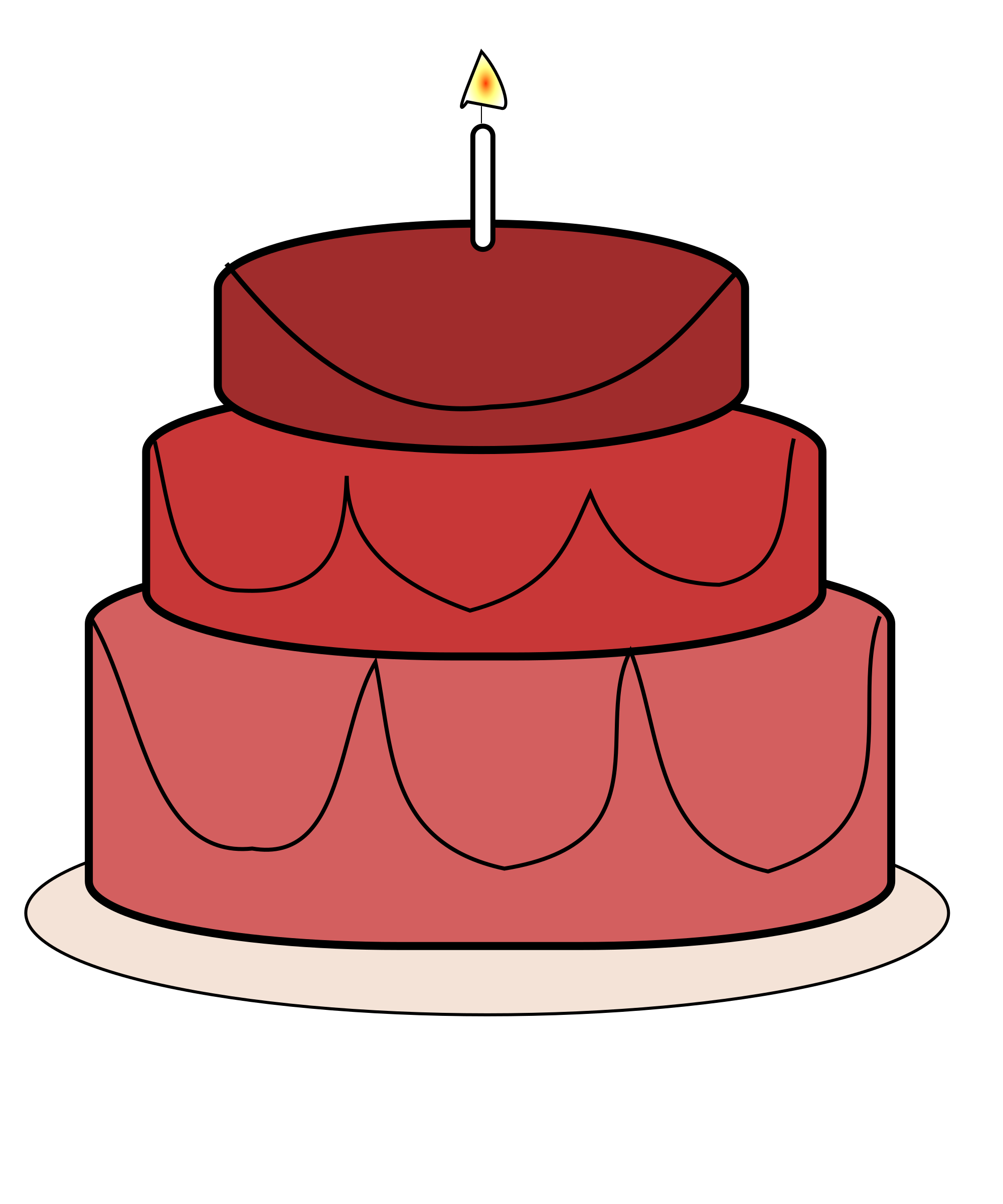 Birthday Cake Vector Image image Free stock photo Public Domain