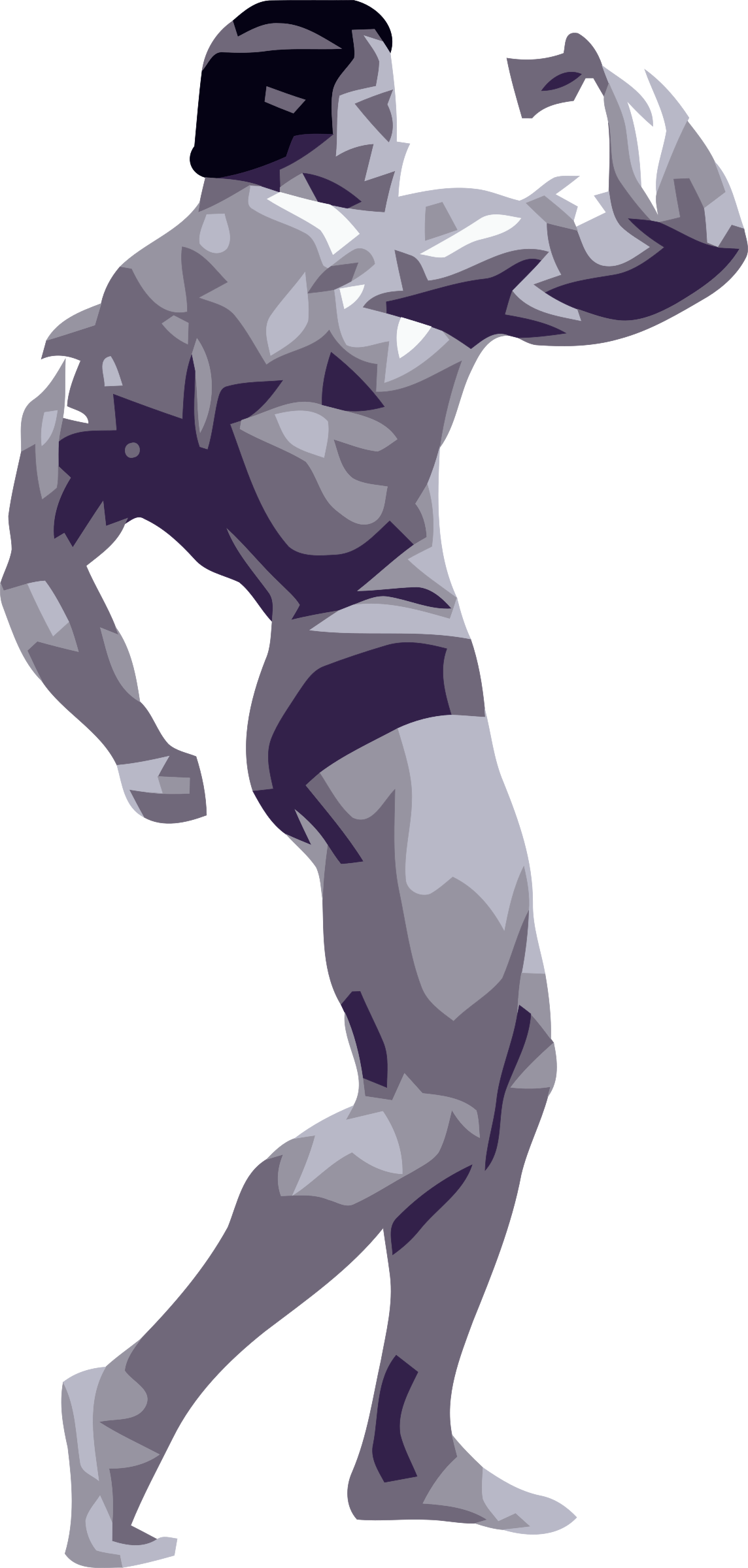 Body Builder Vector Clipart Image Free Stock Photo