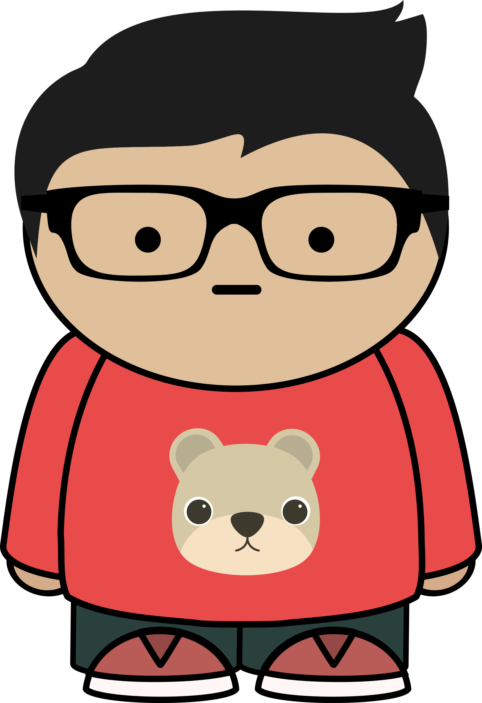 Boy With Glasses Vector Clipart Image