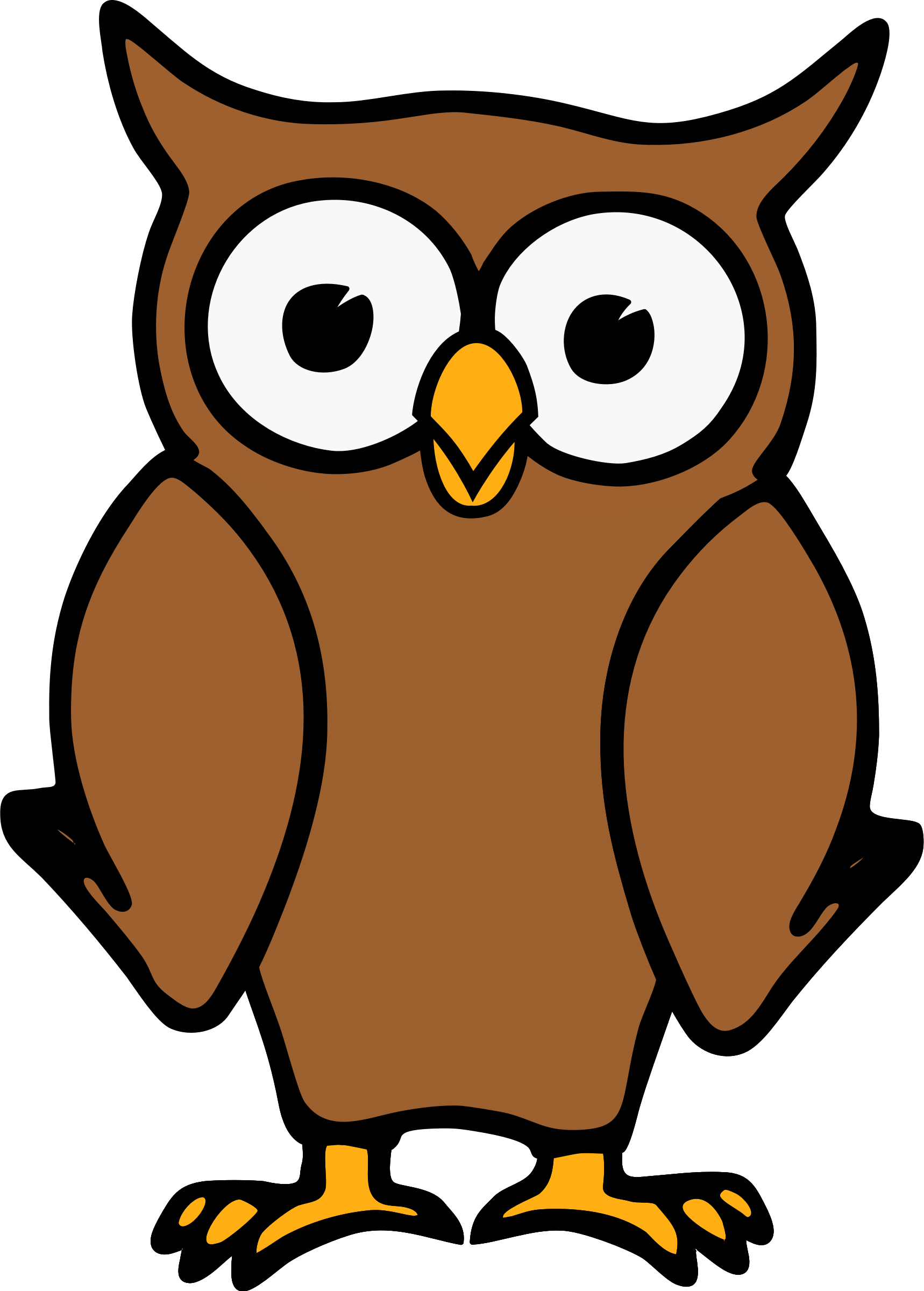 Brown Cartoon Owl Vector Clipart image - Free stock photo ...
