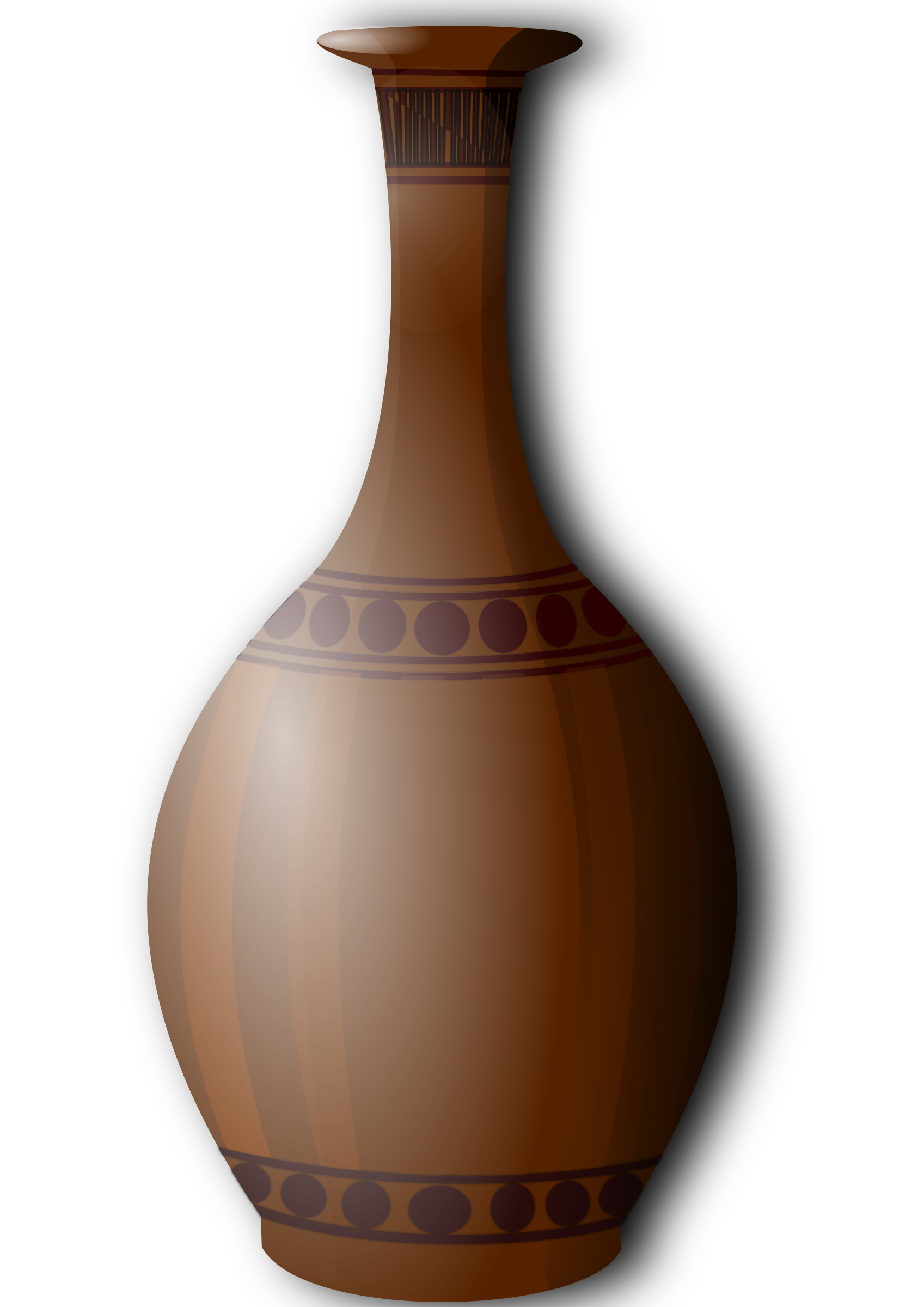 Brown Vase Vector Clipart Image Free Stock Photo