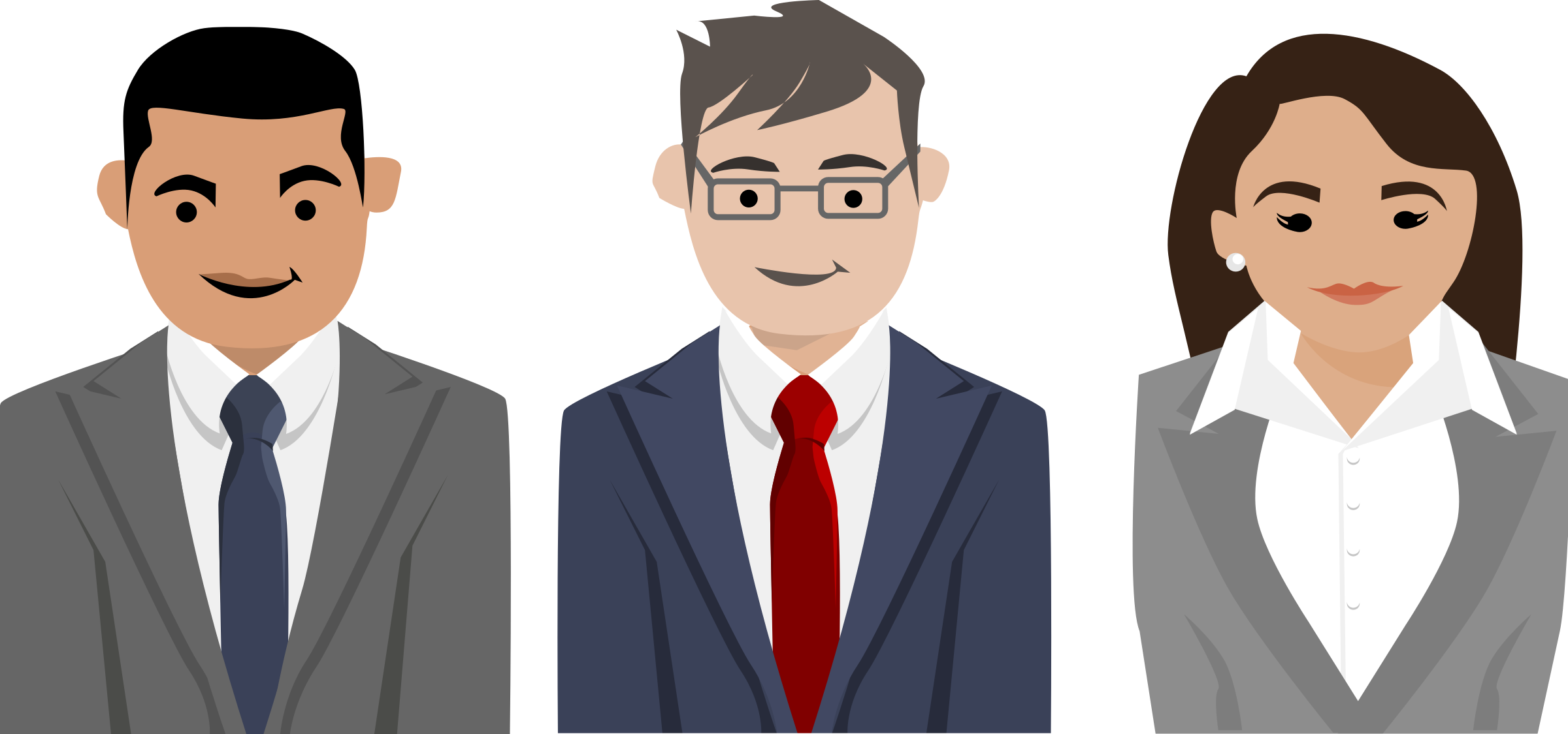 Business People Characters Vector Clipart Image