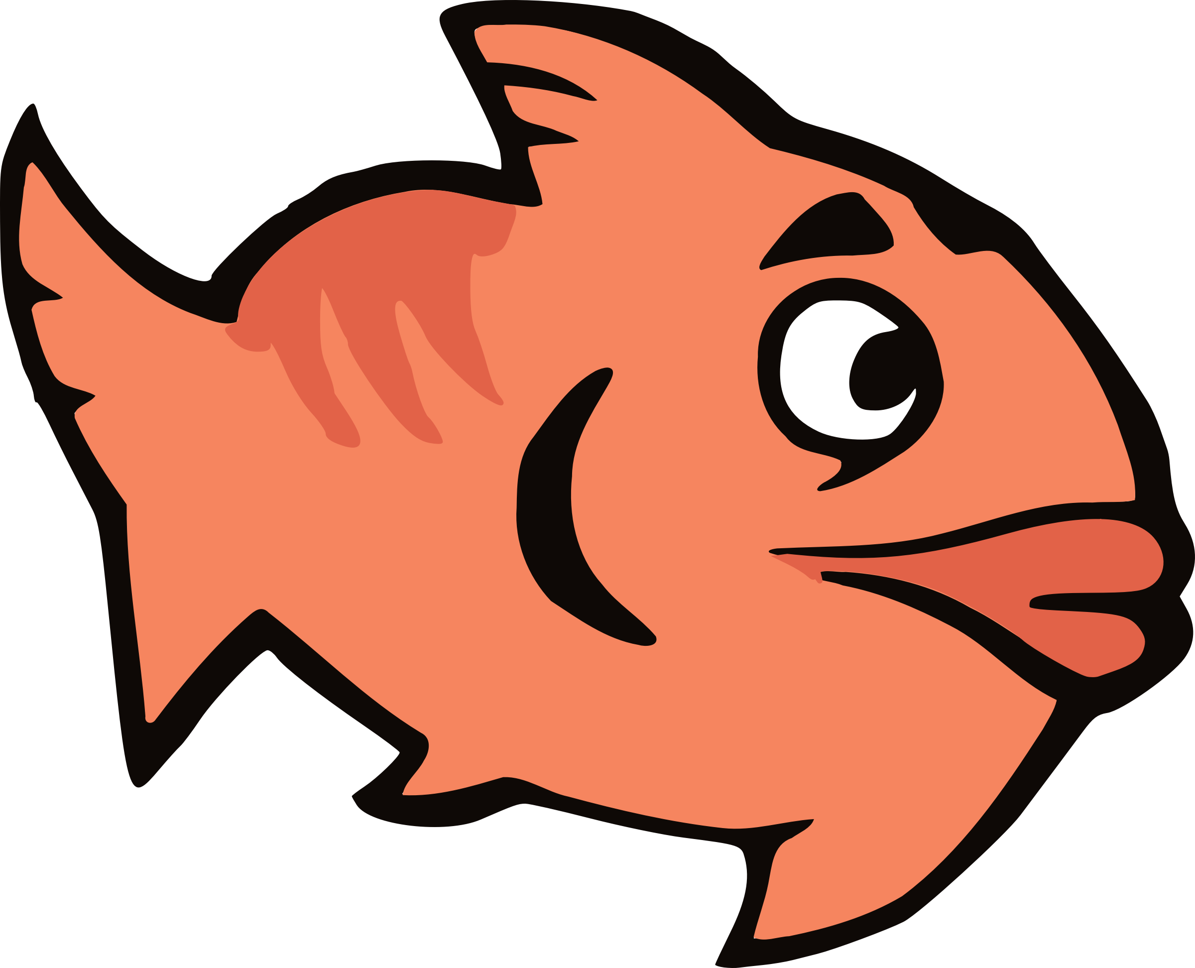Cartoon Fish Vector Clipart Image Free Stock Photo