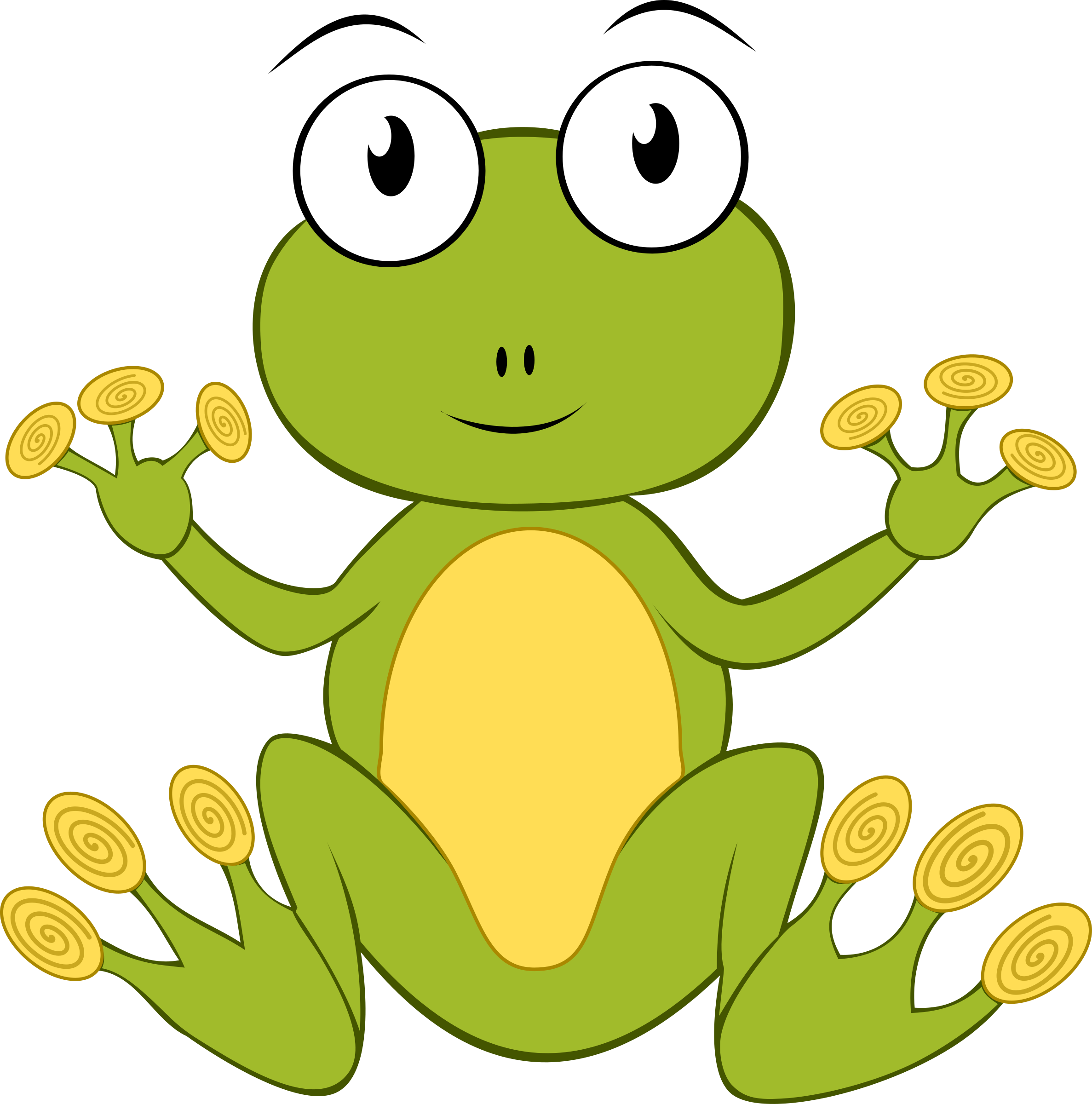 Cartoon Frog Vector Clipart image - Free stock photo ...