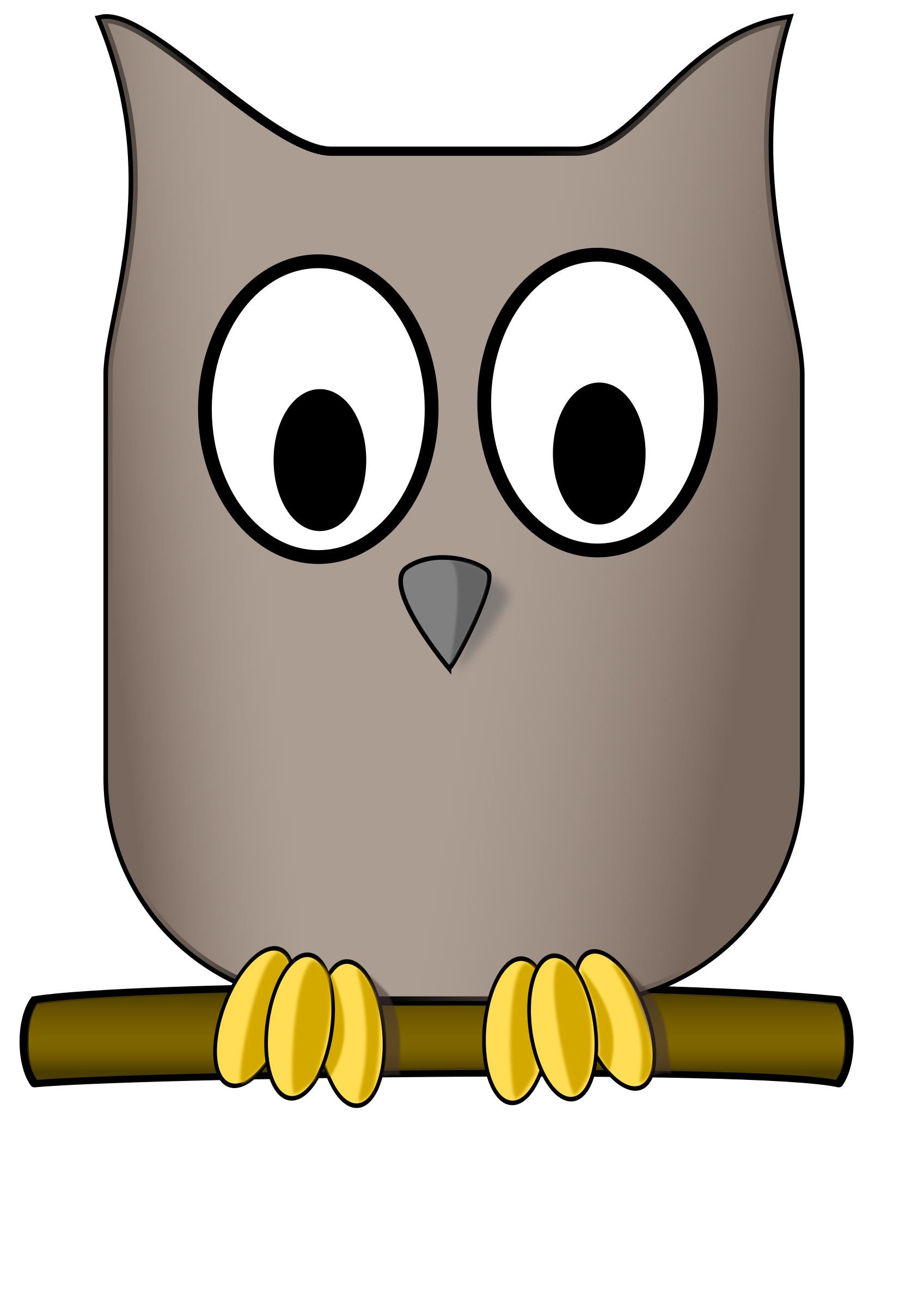 free stock photo of cartoon owl perched on tree public domain