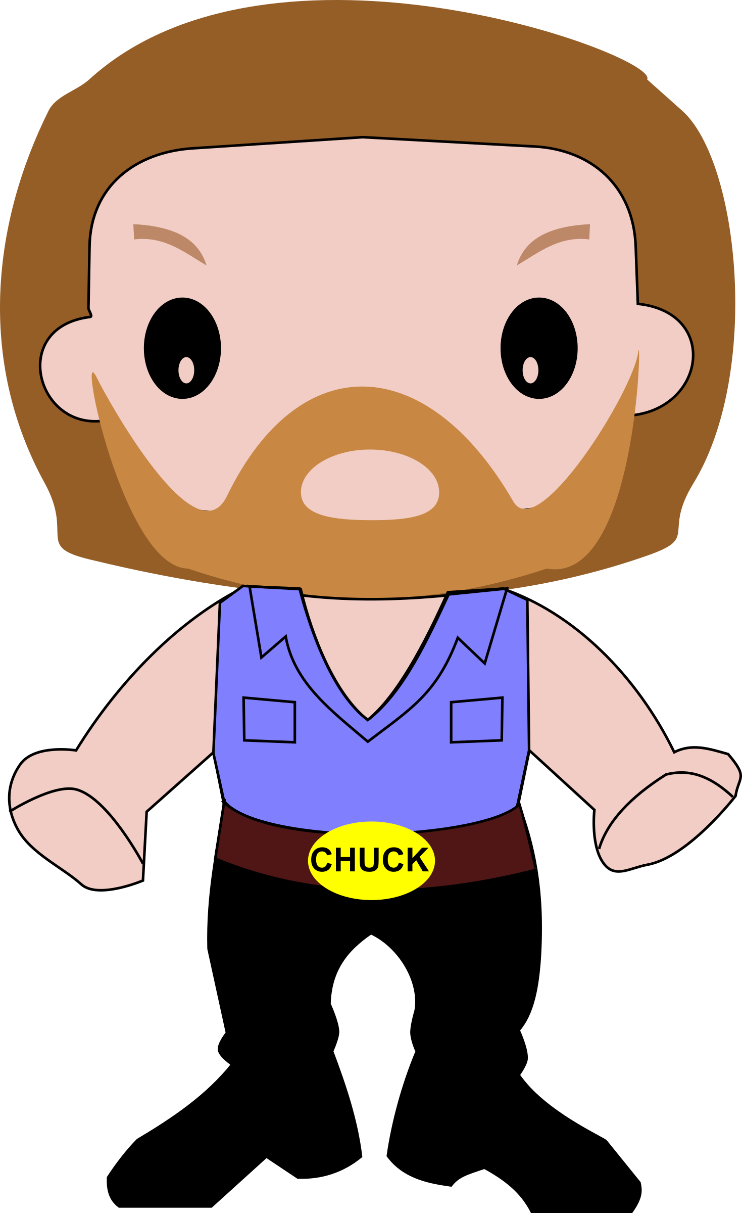 cartoon chuck clipart norris vector clip guy biker domain hdclipartall cliparts geeksvgs file clipground resolution would u003e 1410 1995 clker