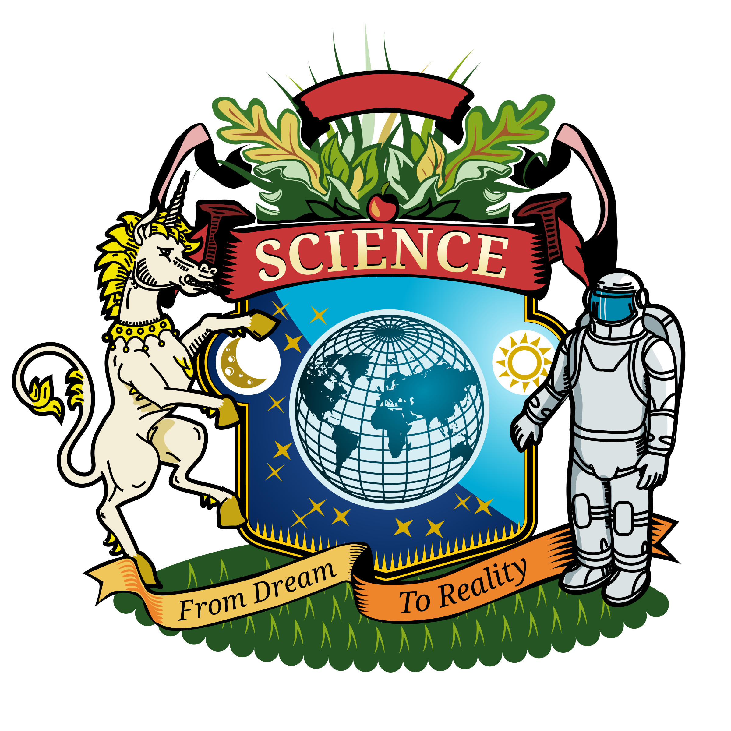 Coat of Arms of Science vector clipart - Free Public Domain Stock ...
