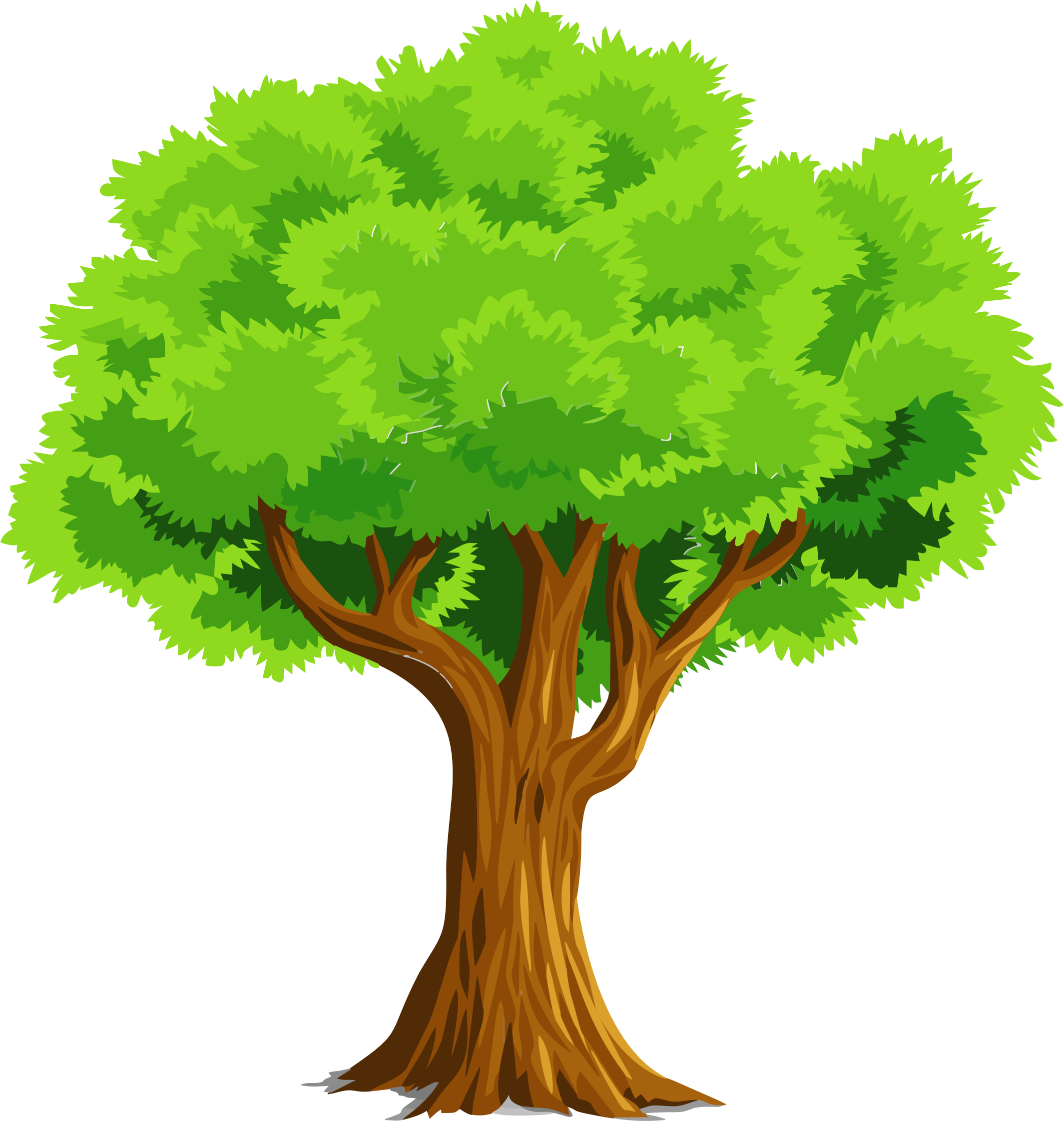 Colorful Natural Tree Vector Clipart image - Free stock ...