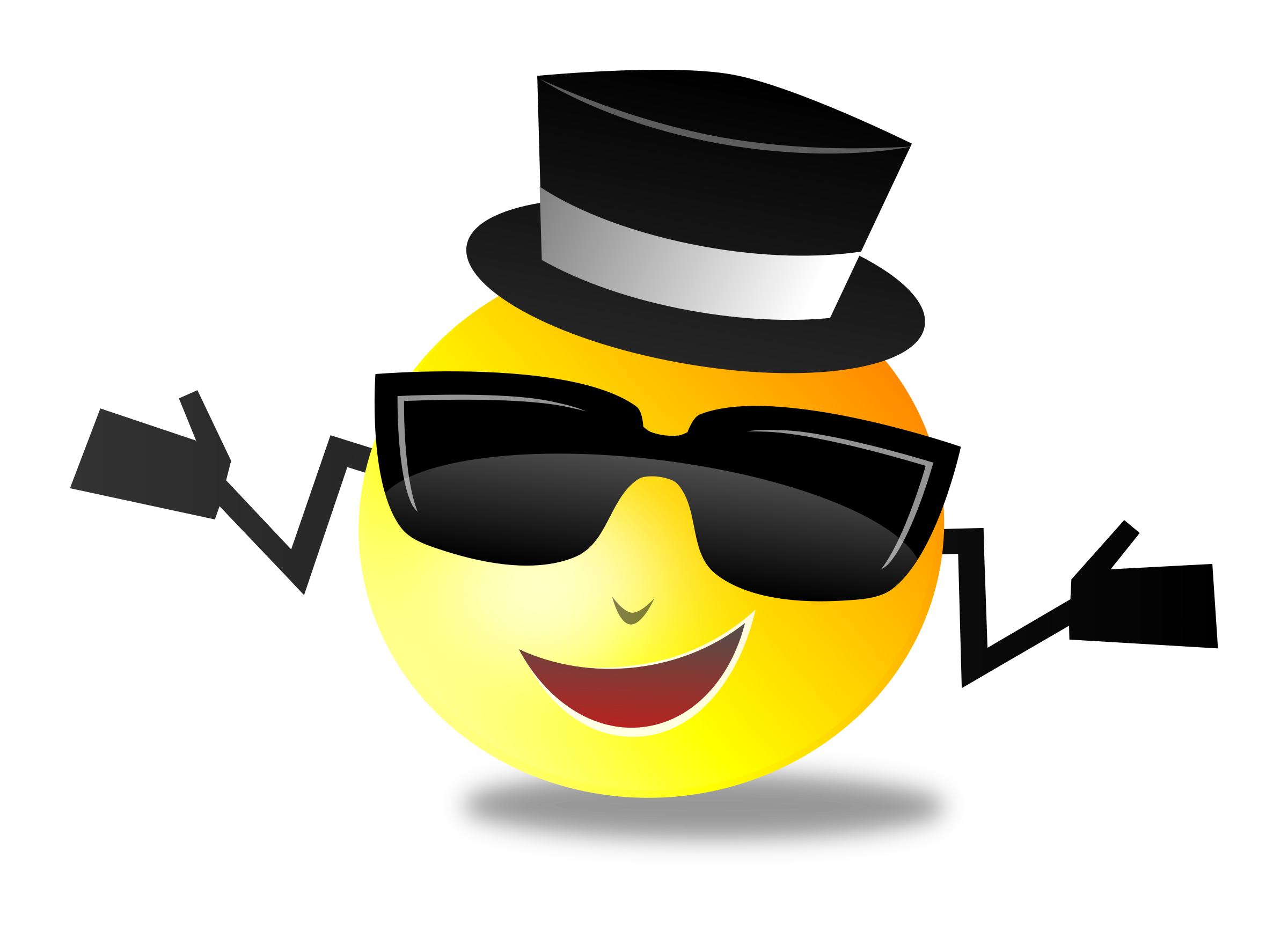 Cool Smiley vector clipart image - Free stock photo