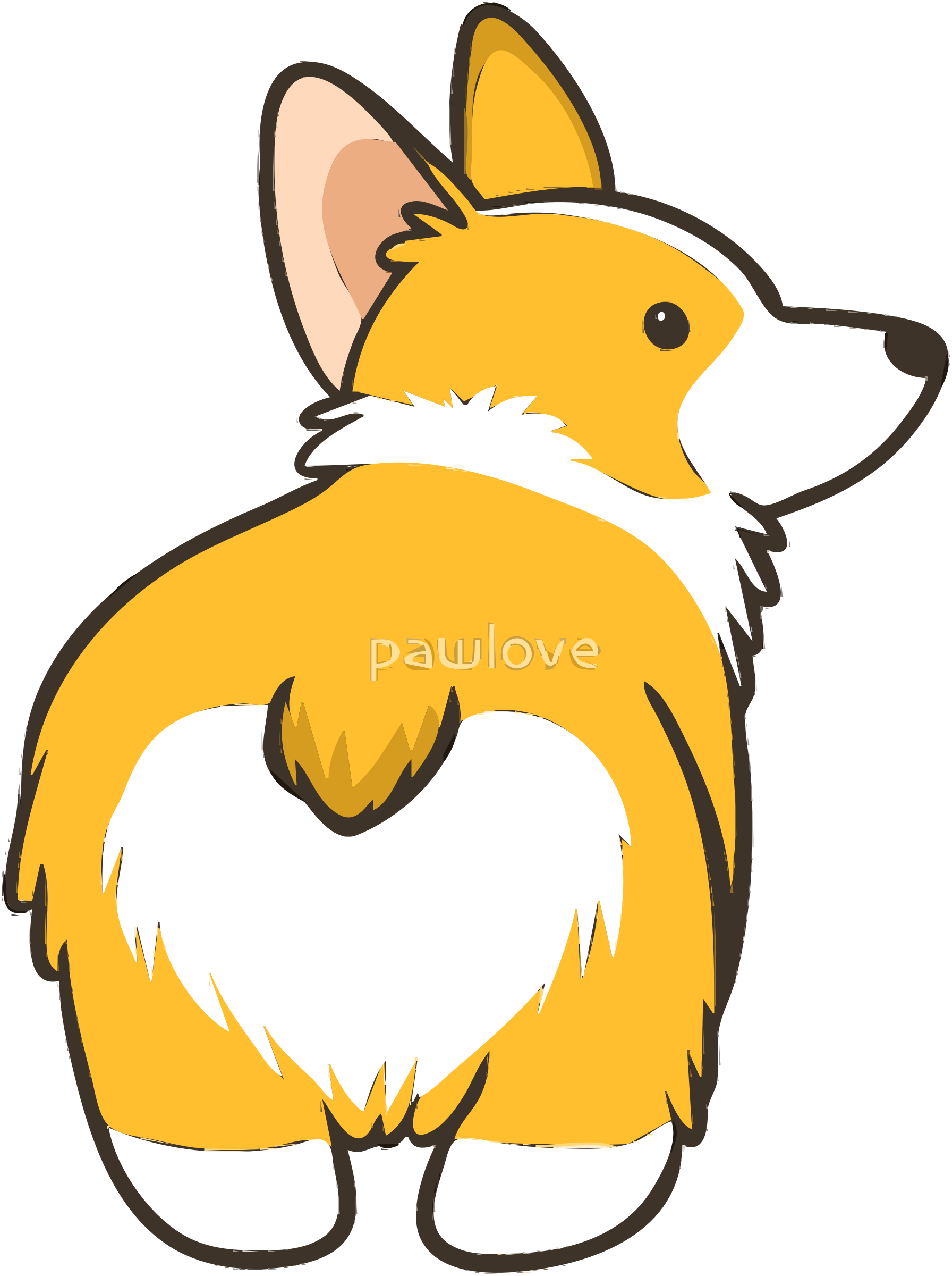 corgi vector clipart image free stock photo public domain photo