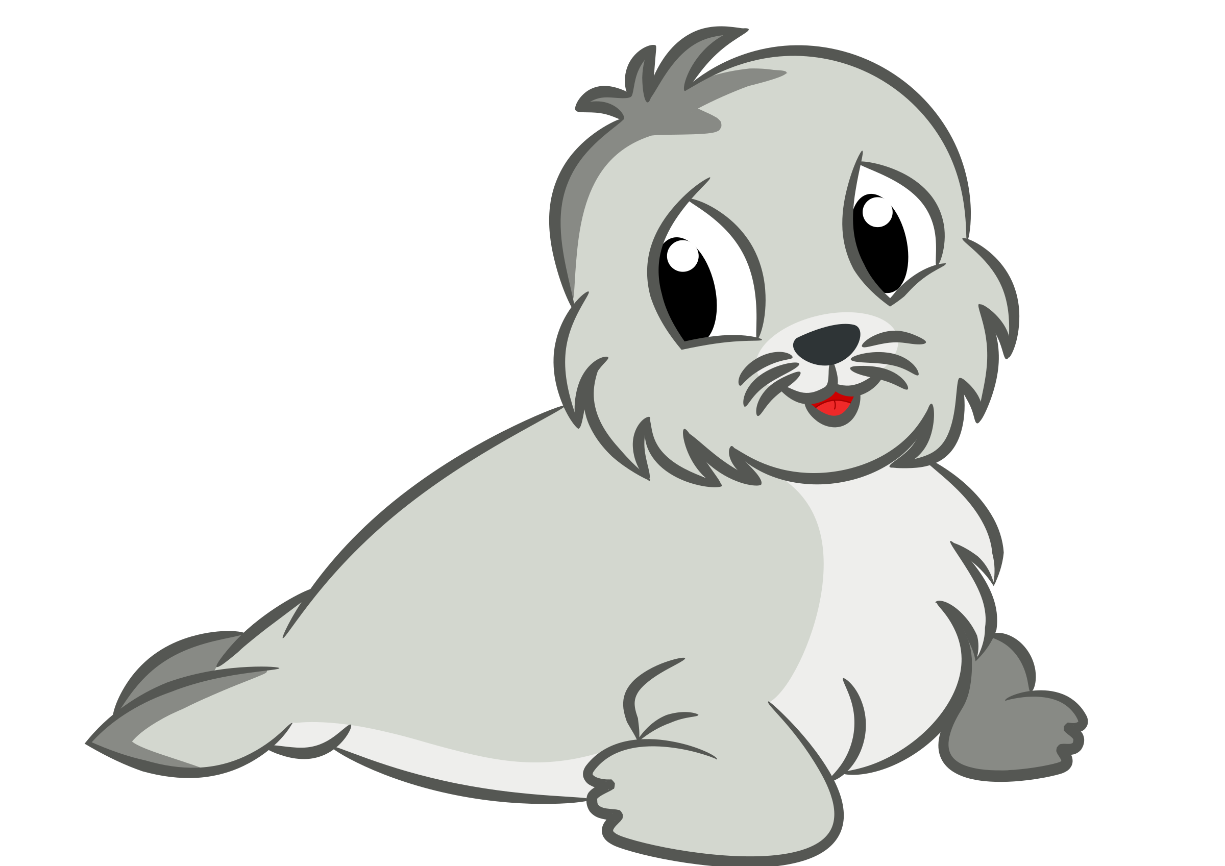 Cute Baby Seal Drawing vector clipart image - Free stock ...