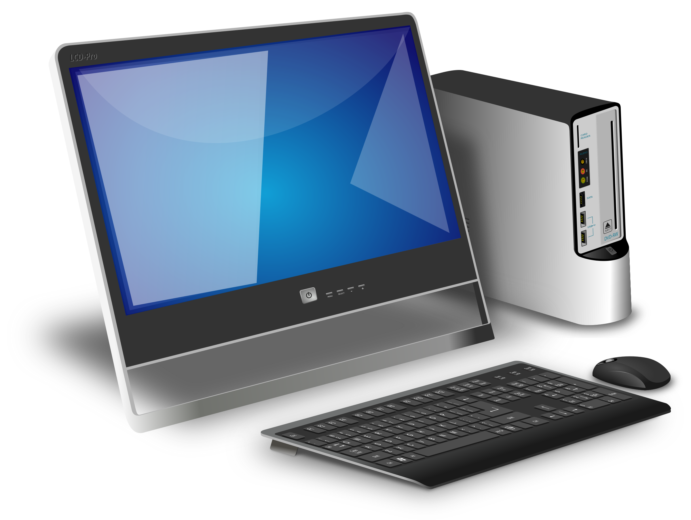 Desktop Computer with monitor vector clipart image - Free stock photo - Public Domain ...
