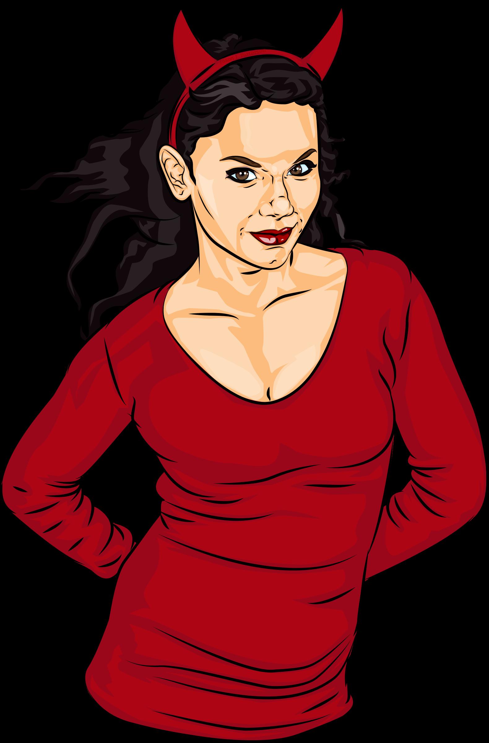 Devil Girl Vector Clipart image - Free stock photo ...