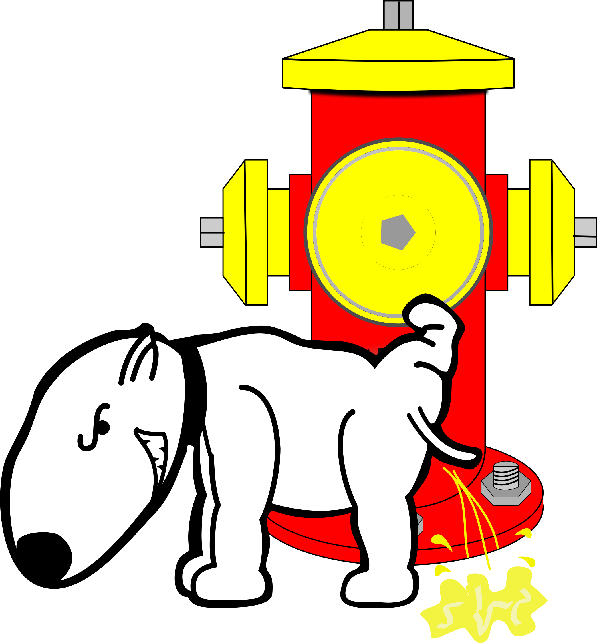 Dog Peeing On Fire Hydrant Vector Clipart Image Free Stock Photo Public Domain Photo Cc0 Images