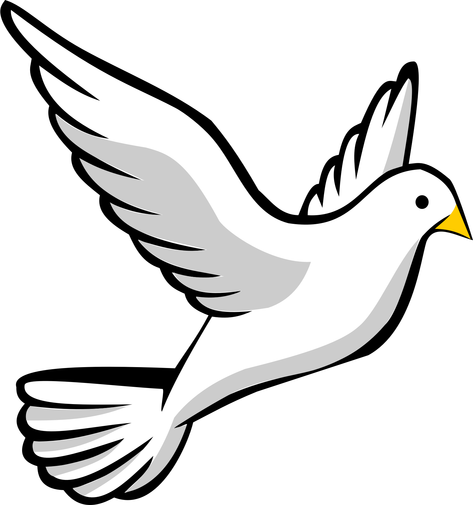 Free Stock Photo of Dove Vector Clipart - Public Domain ...