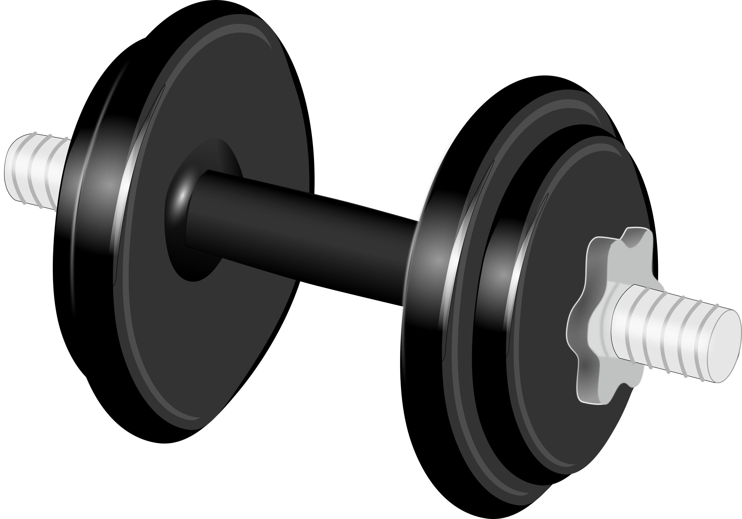 Dumbbells exercises black and white pictures