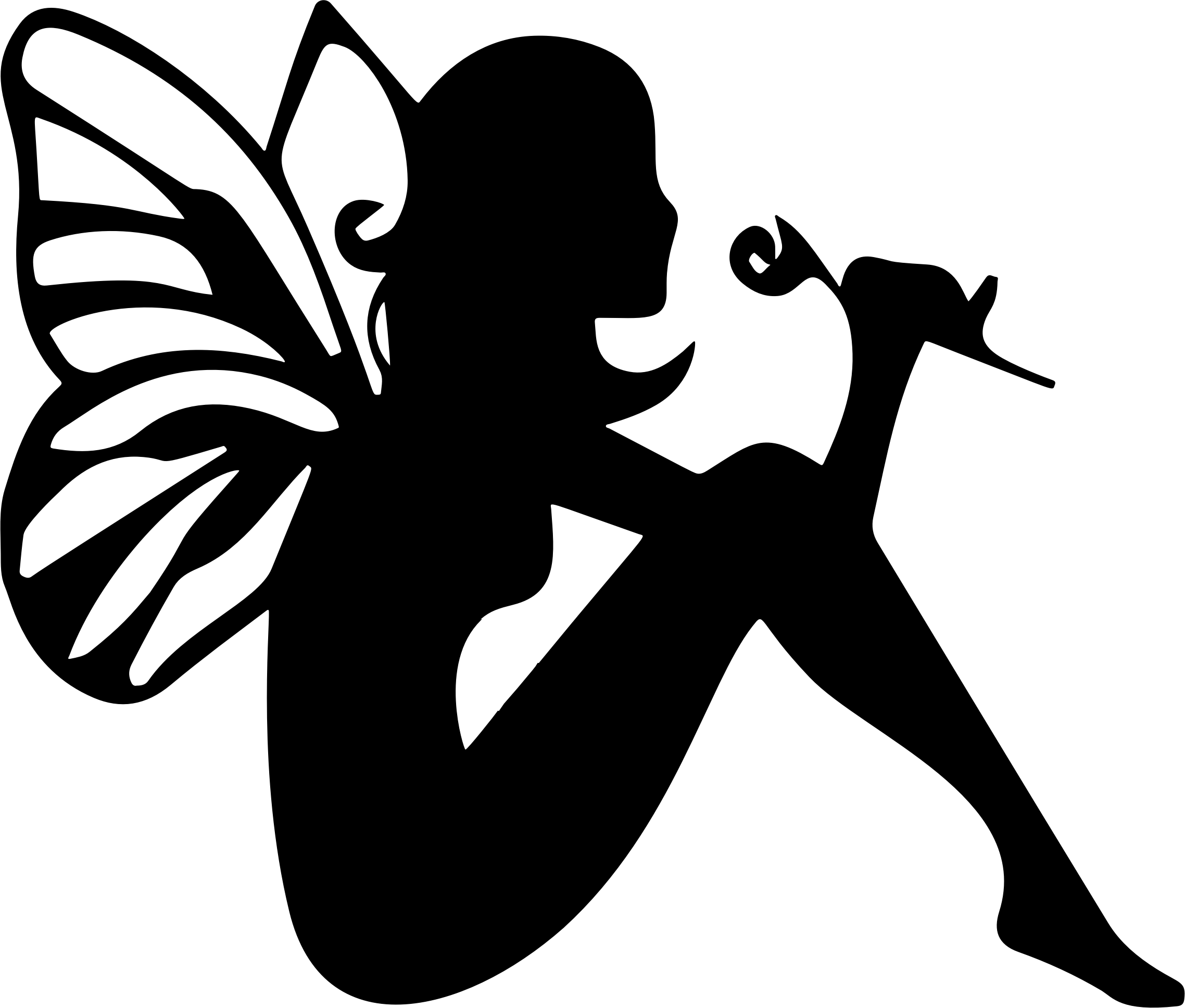 Fairy Silhouette Vector File Image