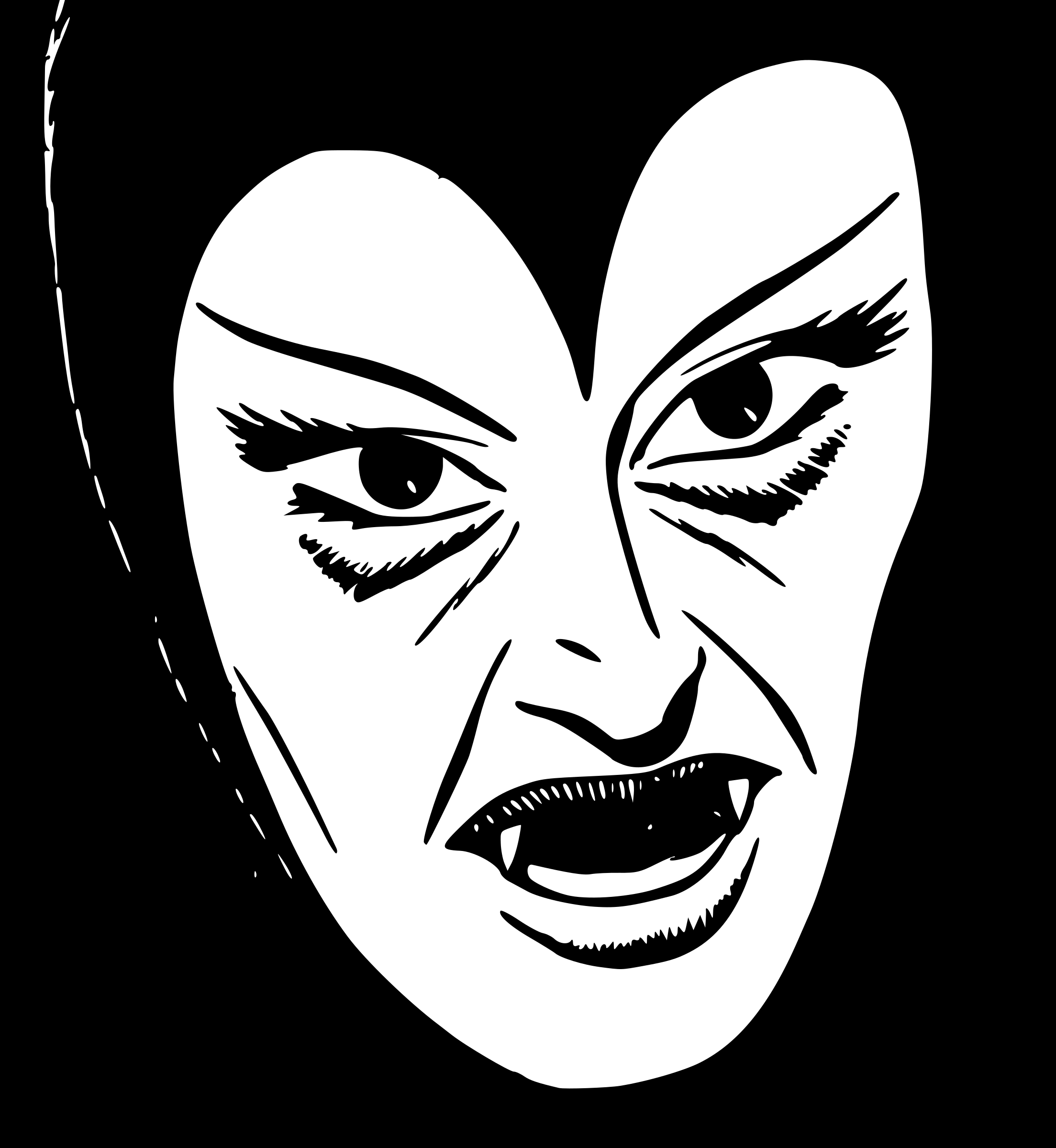 Female Vampire Face Vector Clipart Image Free Stock Photo