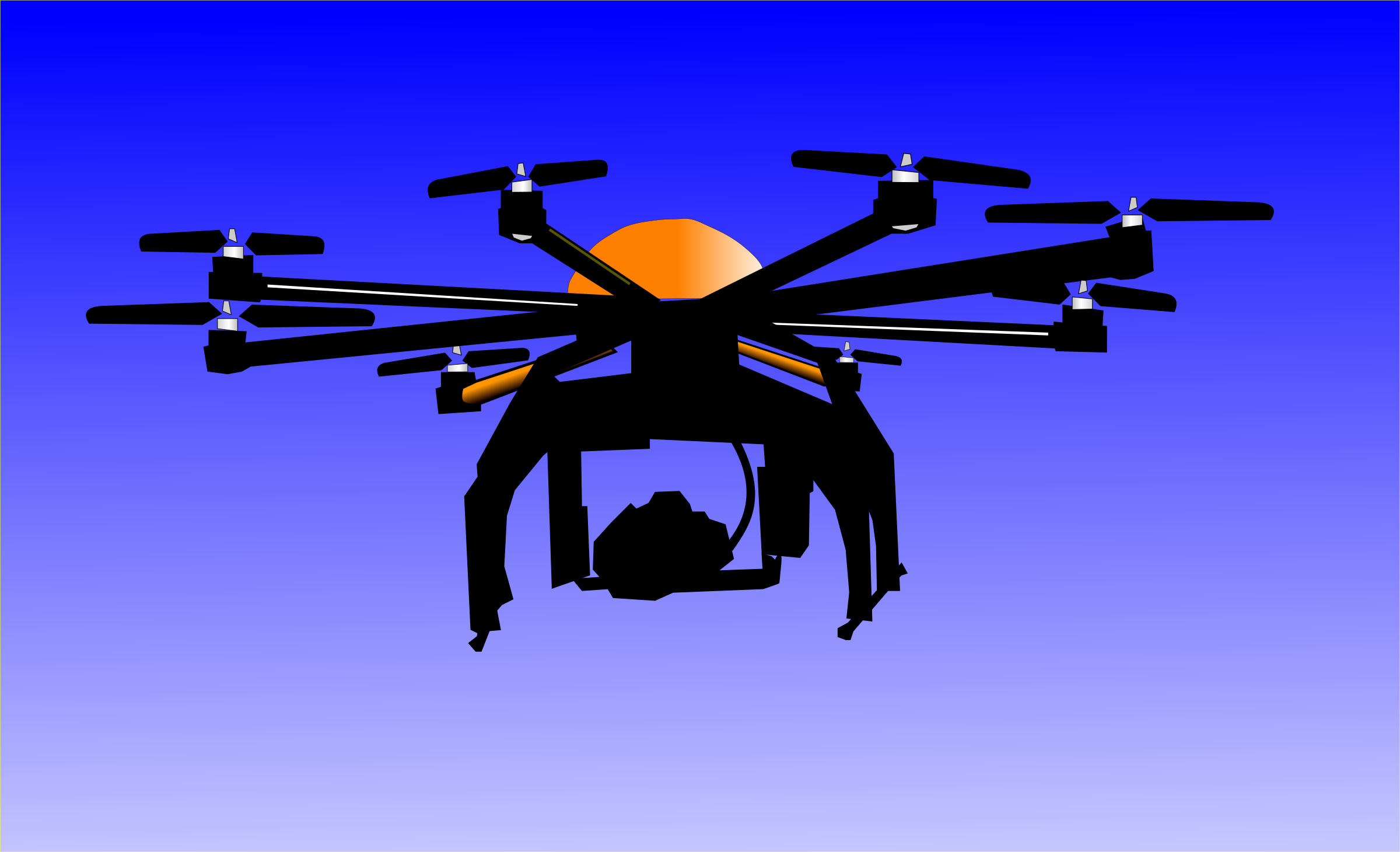 Flying Drone Vector Clipart Graphic By Algotruneman