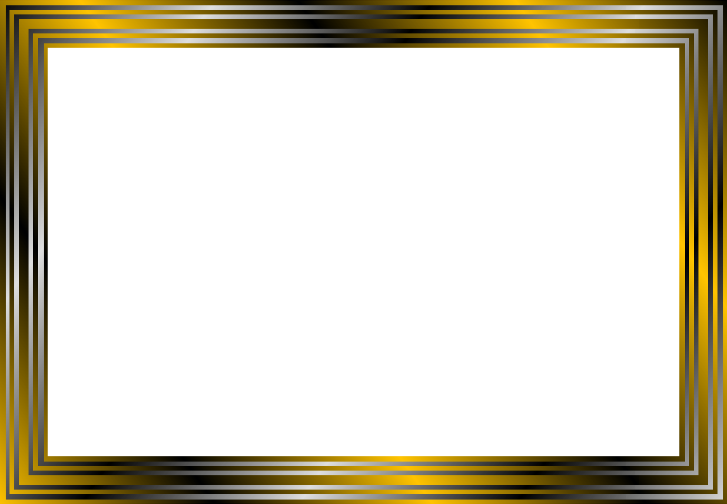 Frame Vector Png Gold and black ...