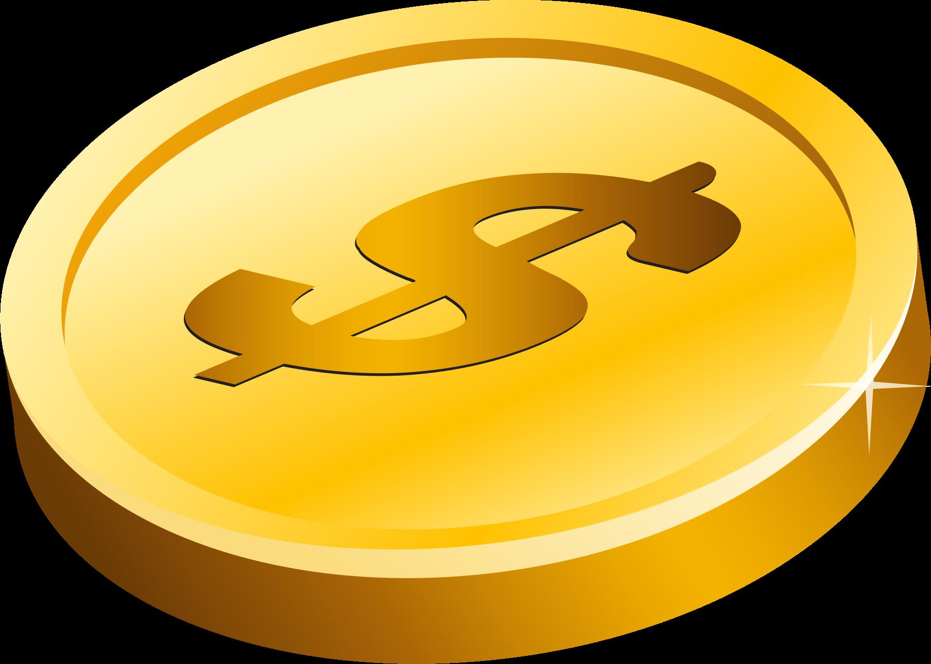gold coin vector art image free stock photo public