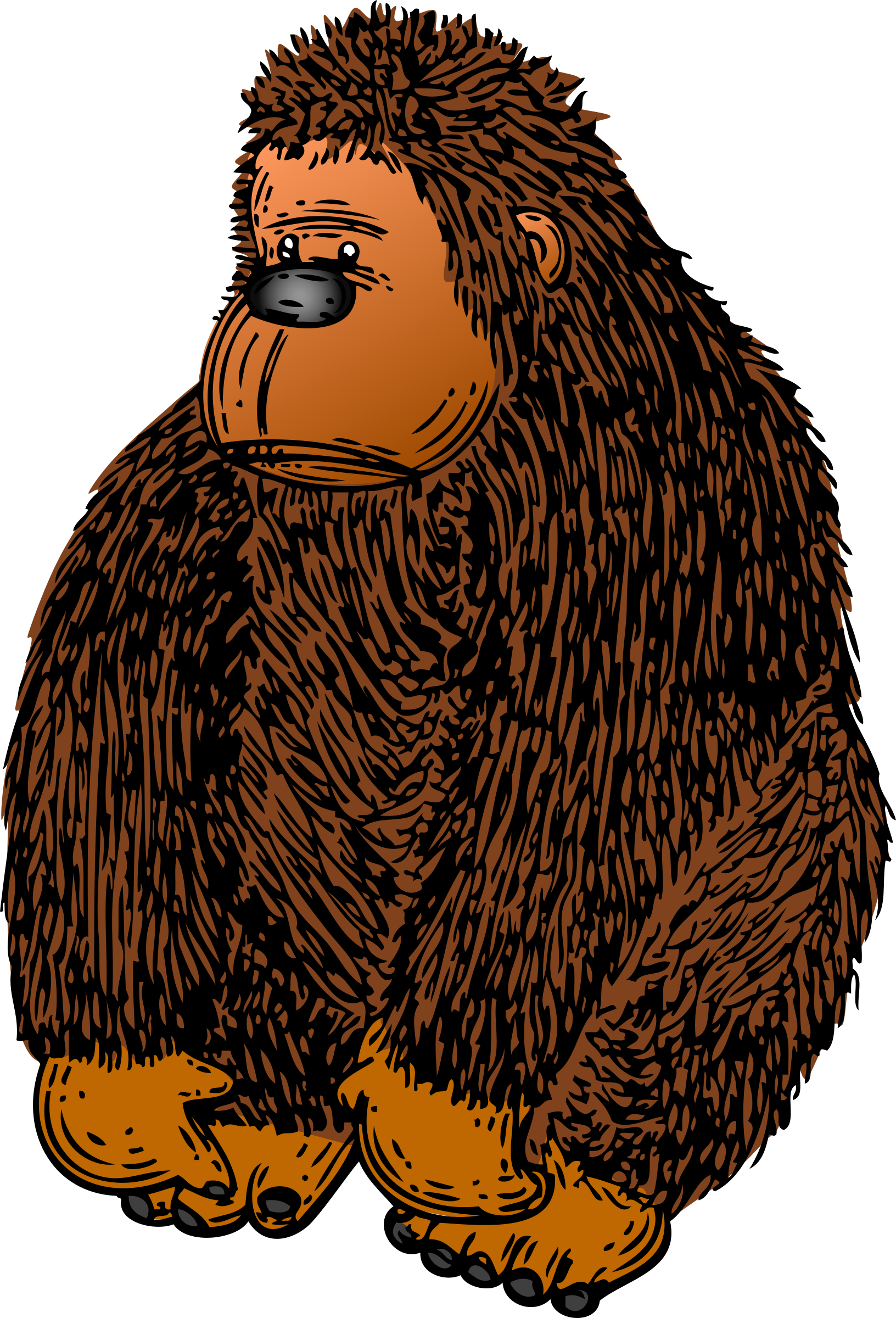 Gorilla vector clipart image free stock photo public for Graphics clipart