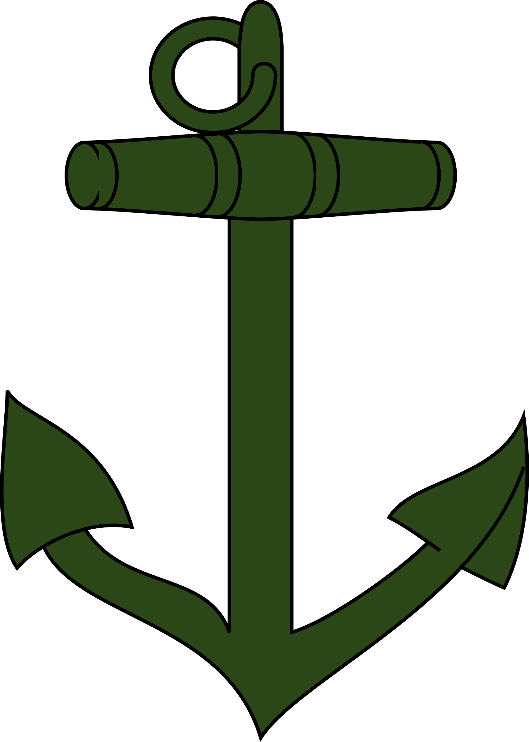 Green anchor vector clipart image - Free stock photo ...