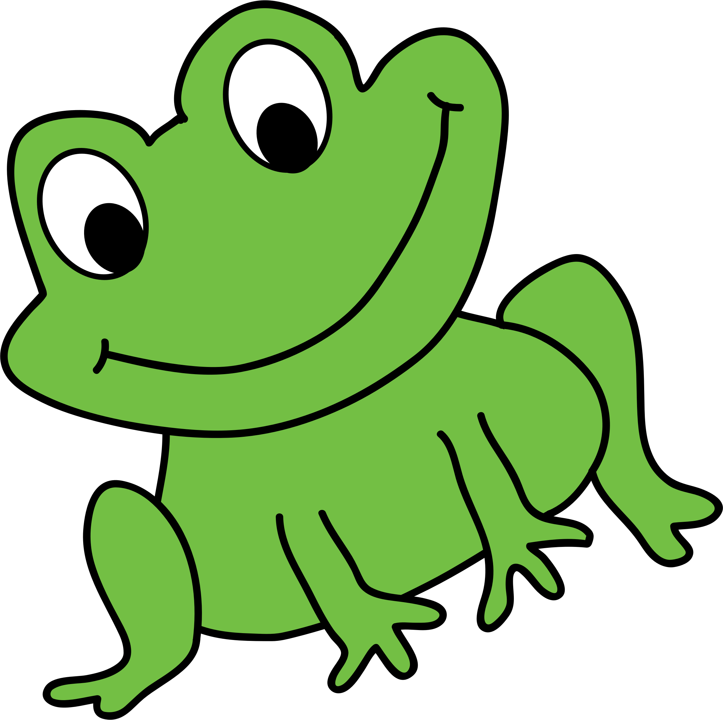 Green Frog Vector image - Free stock photo - Public Domain ...