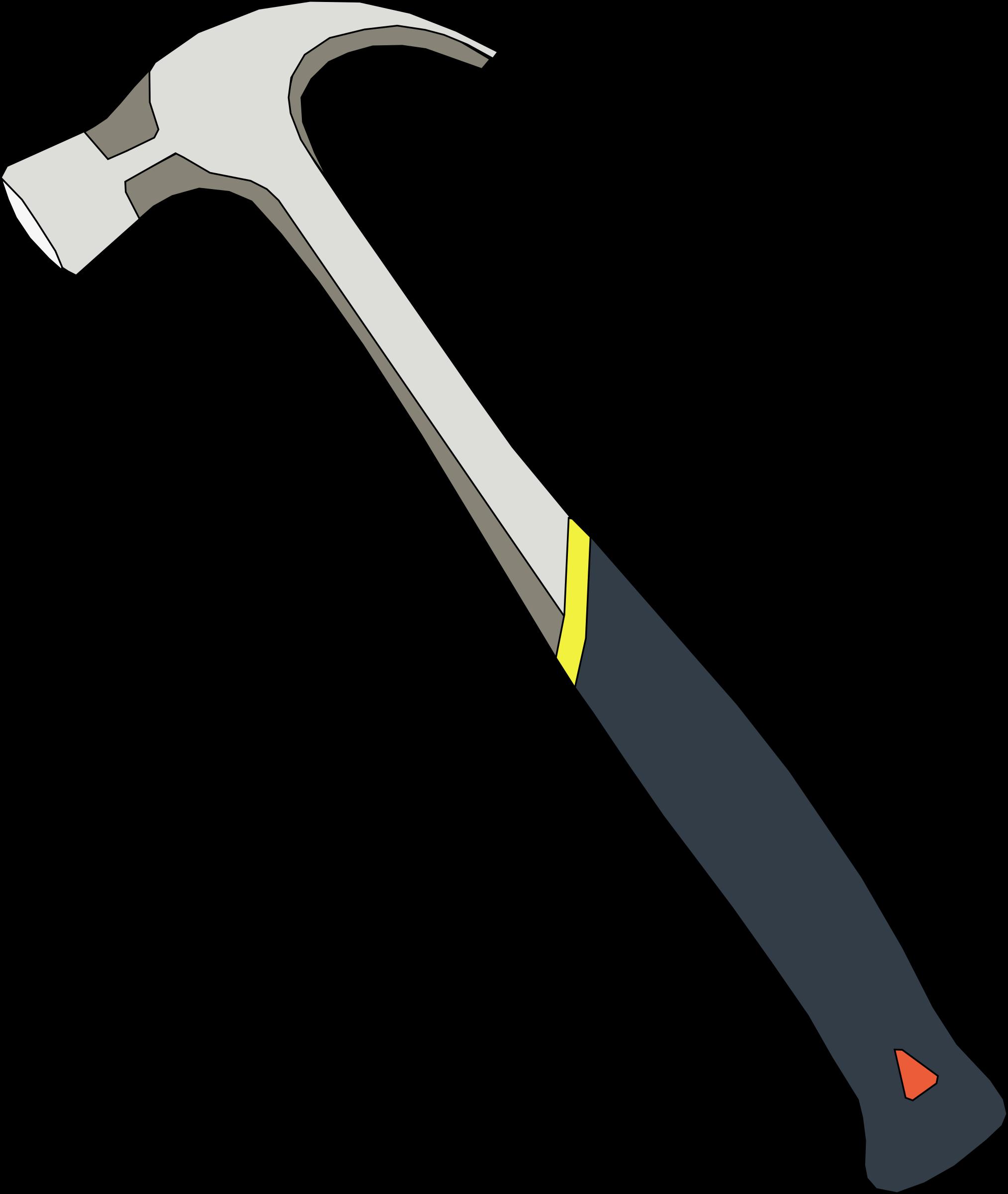 Vector Illustration Hammer: Hammer Vector Clipart Image
