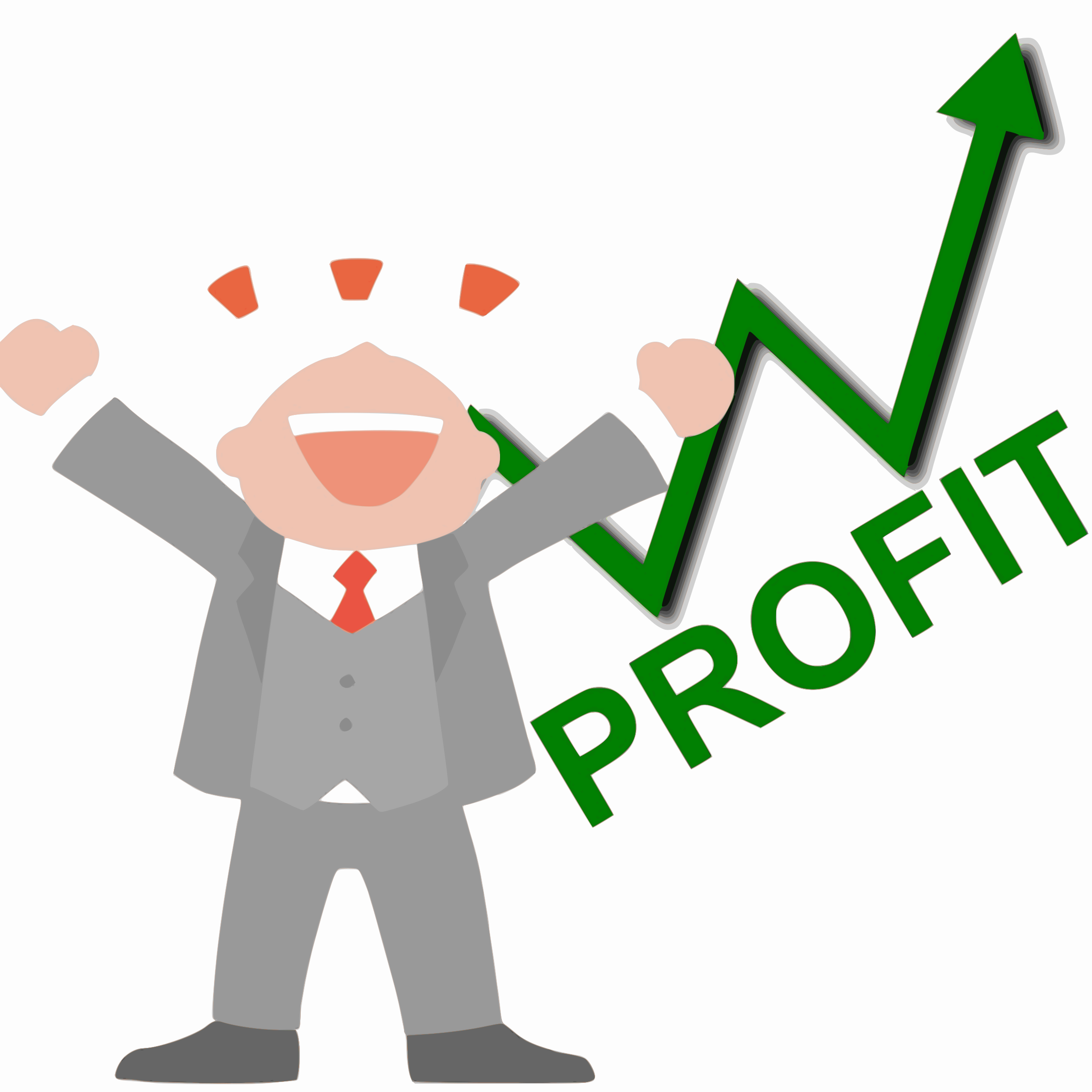 Happy Business Man Profit Vector Clipart image - Free stock photo ...