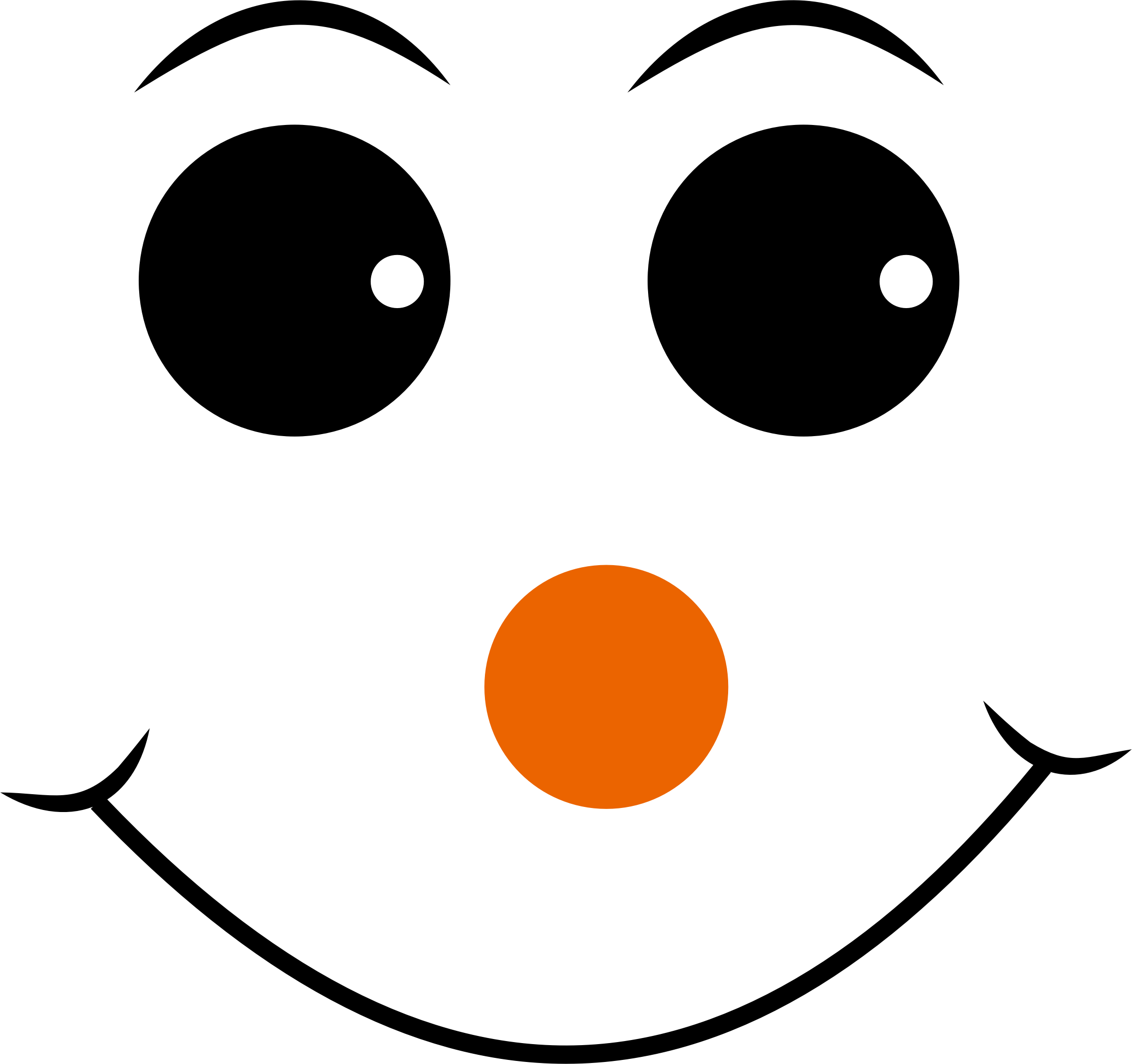 Happy Face With Orange Nose Vector File Image
