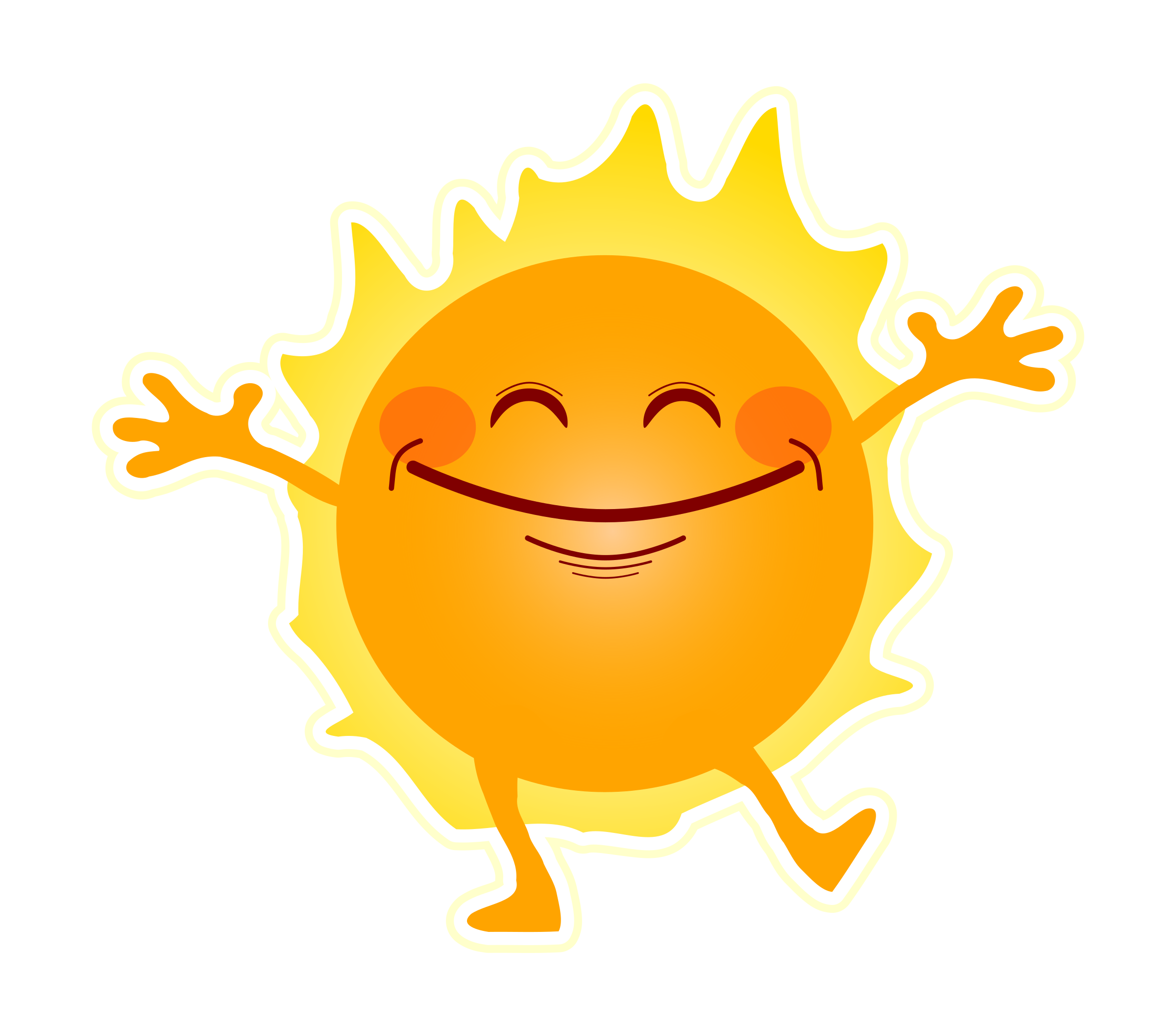 happy sunshine vector clipart image free stock photo public rh goodfreephotos com clipart sunshine free clipart sunshine and flowers