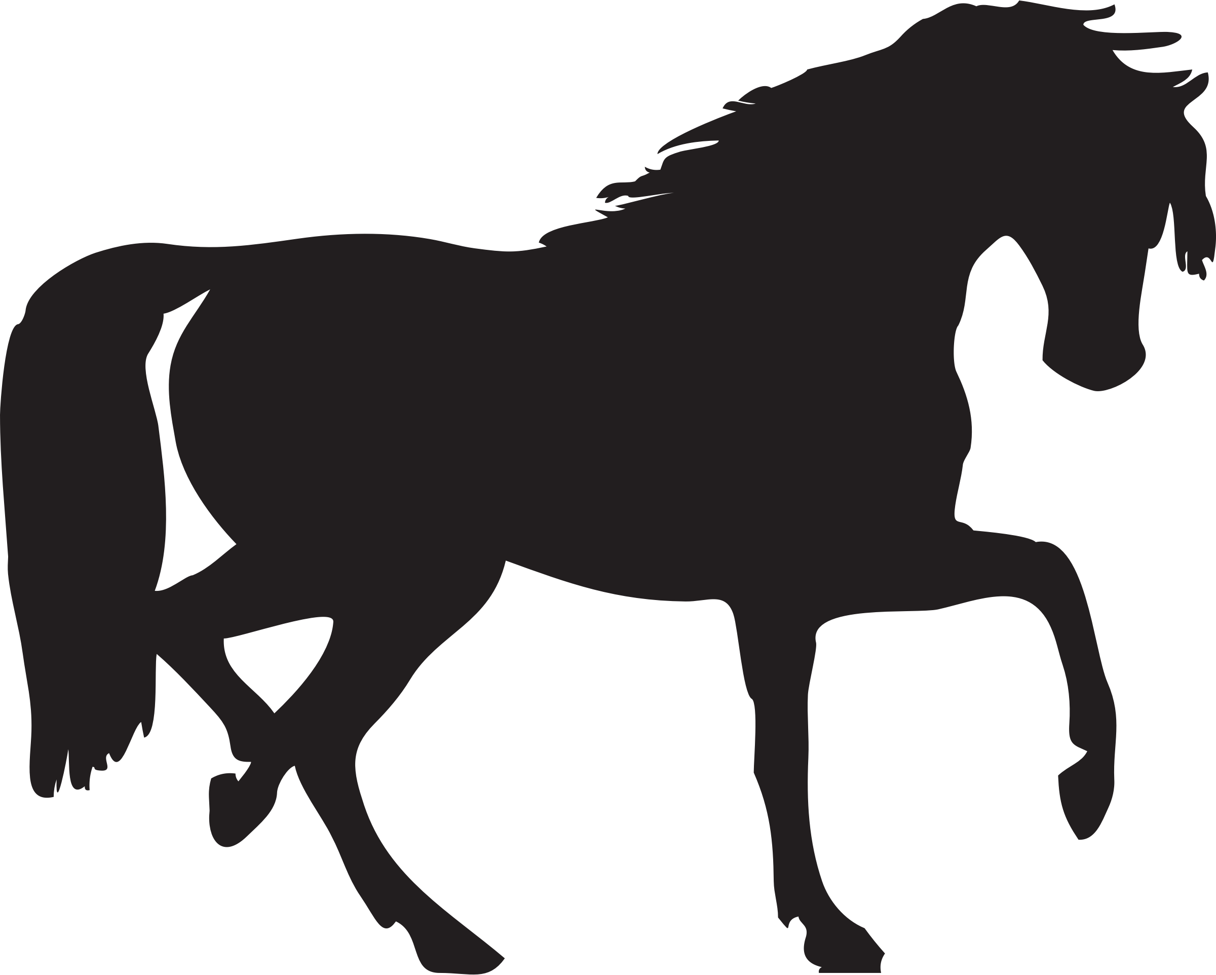 Horse silhouette vector clipart image - Free stock photo ...