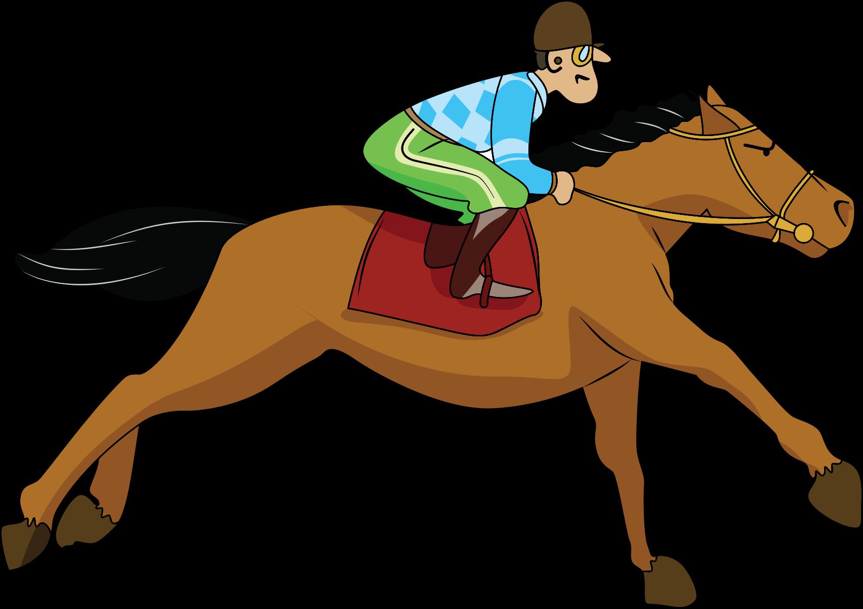 Horse with Jockey Vect...