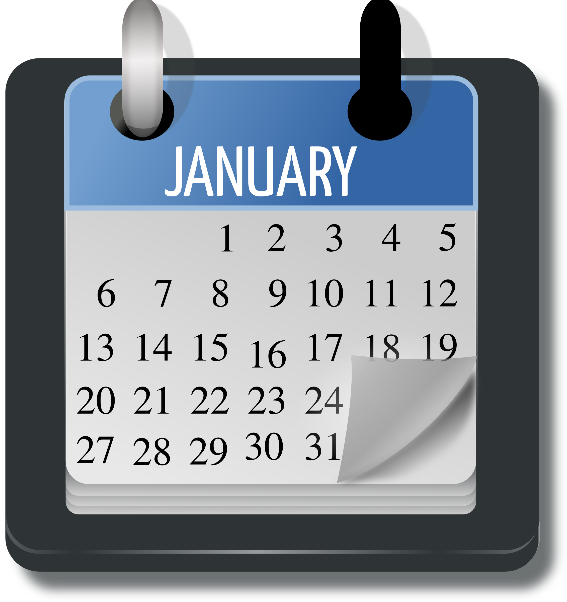 Calendar Vector Art : January calendar vector art image free stock photo
