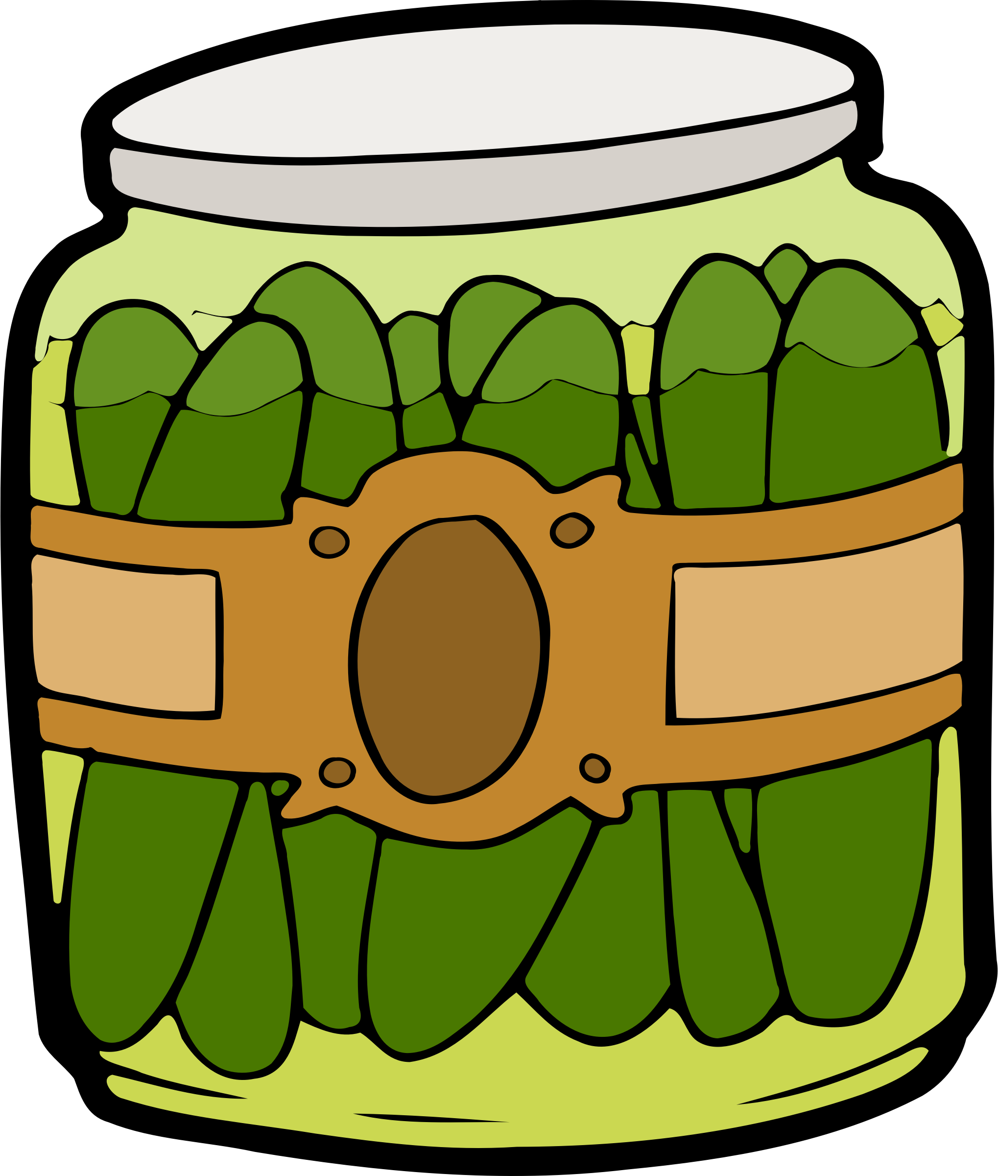 Jar of Pickles Vector Clipart image - Free stock photo ...