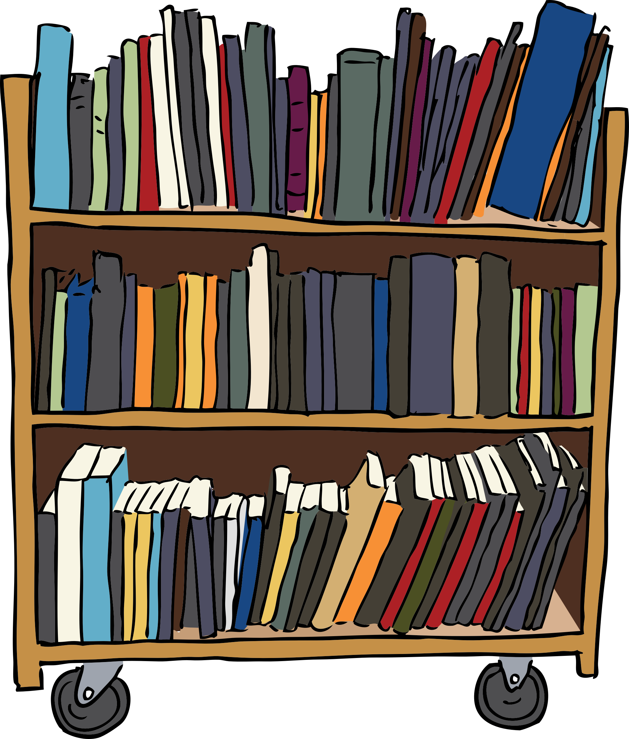 Library Book Cart Vector Graphic image - Free stock photo