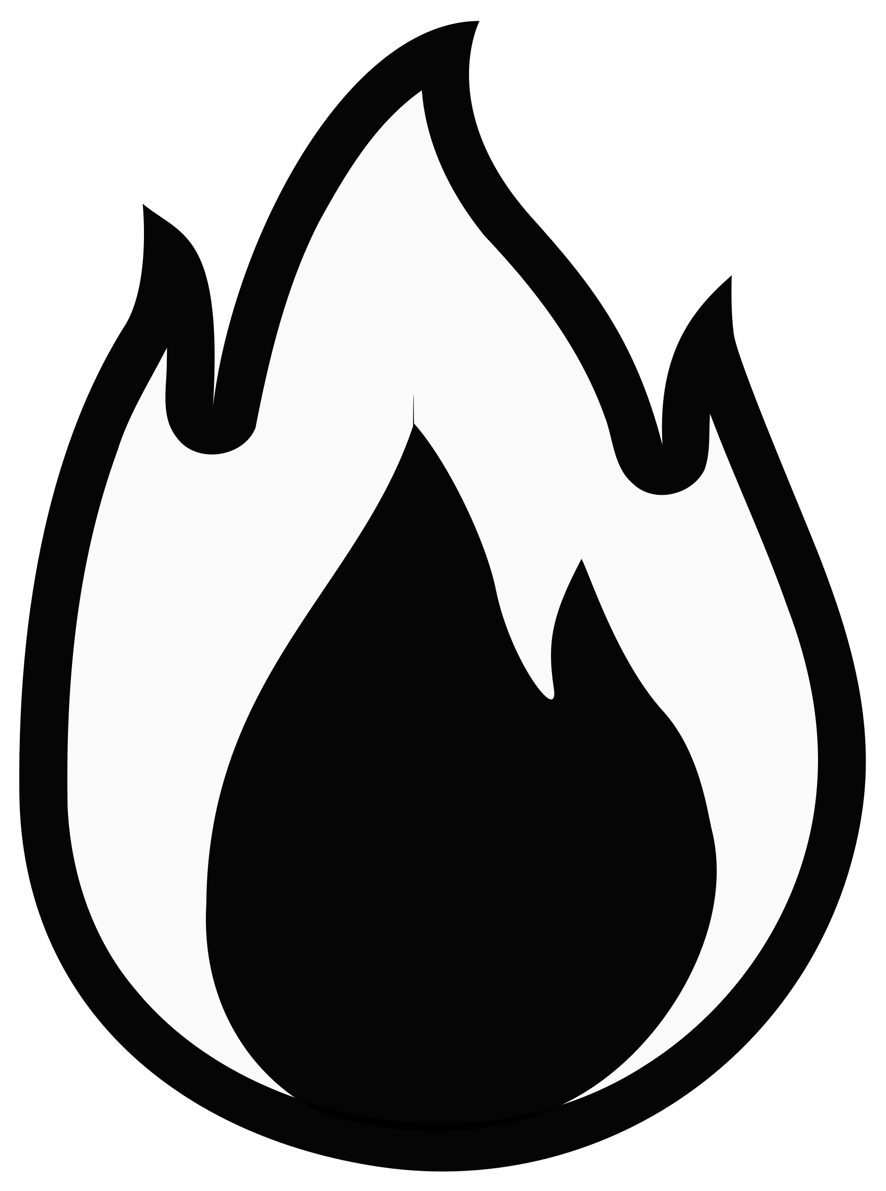 Monochrome Flame Clipart image - Free stock photo - Public ...