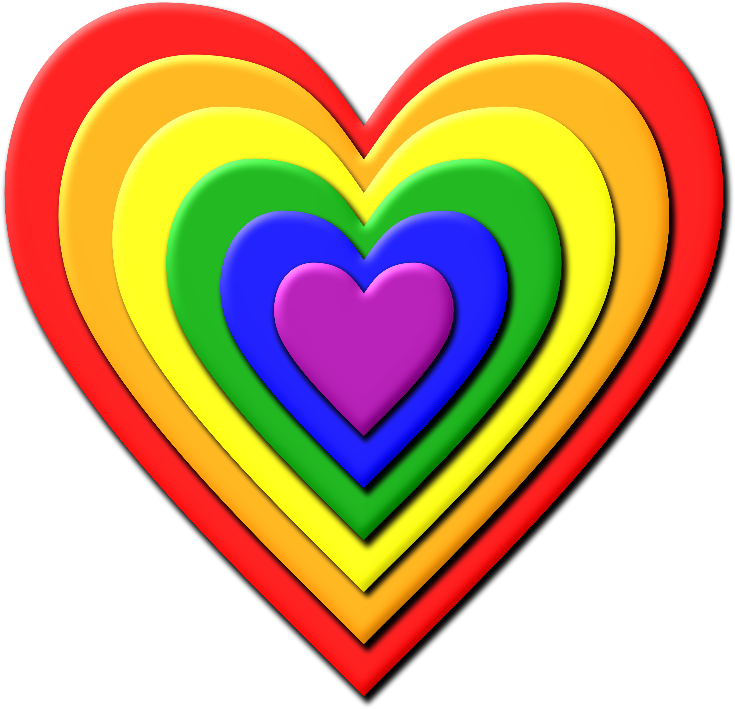 multi layered rainbow heart vector clipart image free stock photo rh goodfreephotos com