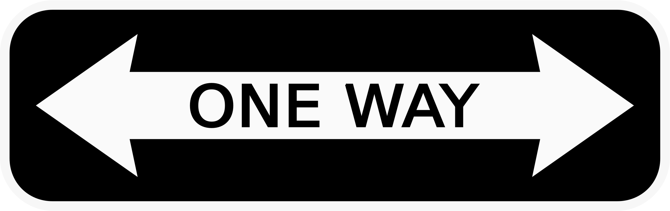 One Way Sign pointing two ways vector clipart image - Free stock photo -  Public Domain photo - CC0 Images