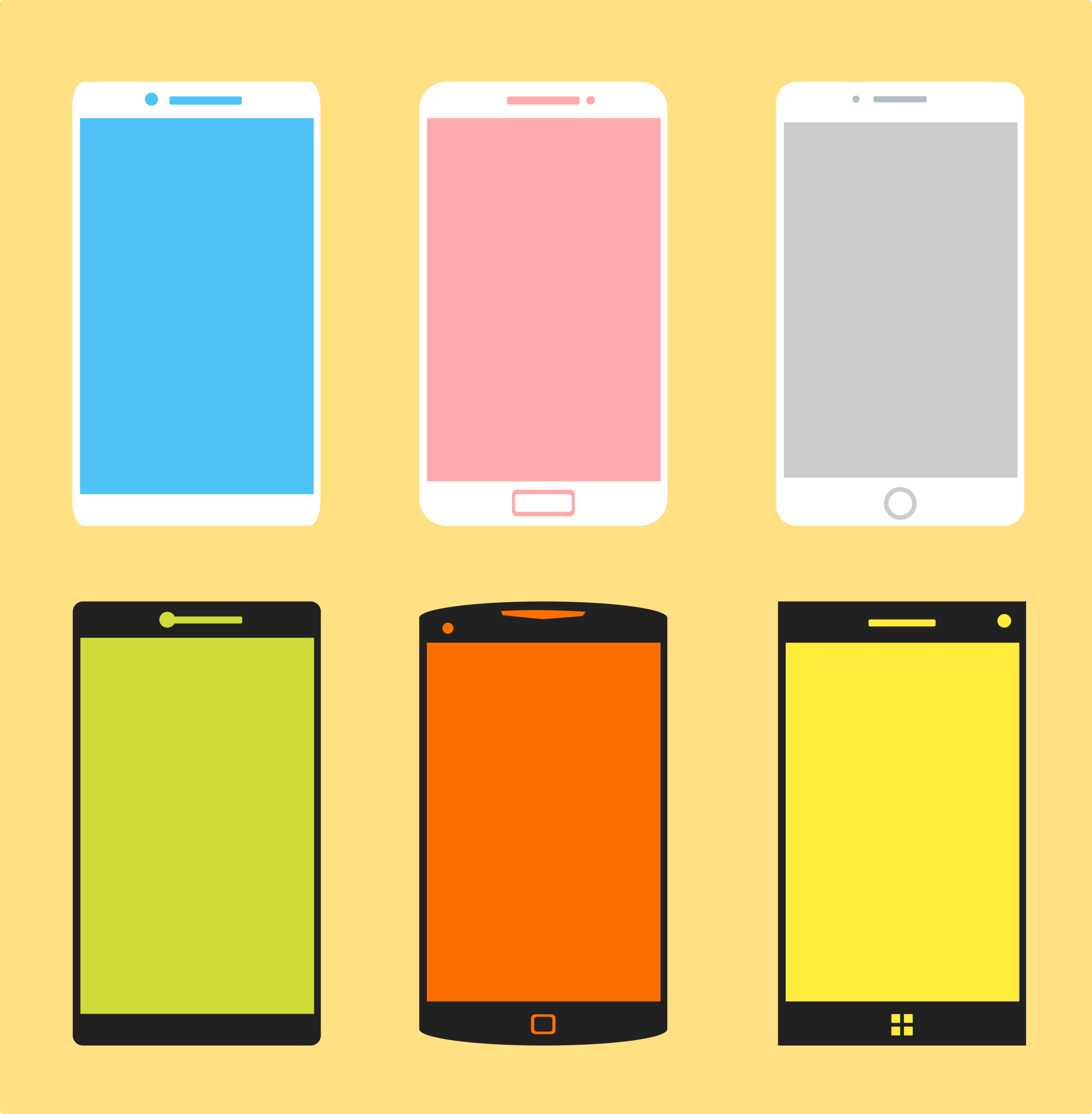 Phone Group Vector Graphics Image Free Stock Photo