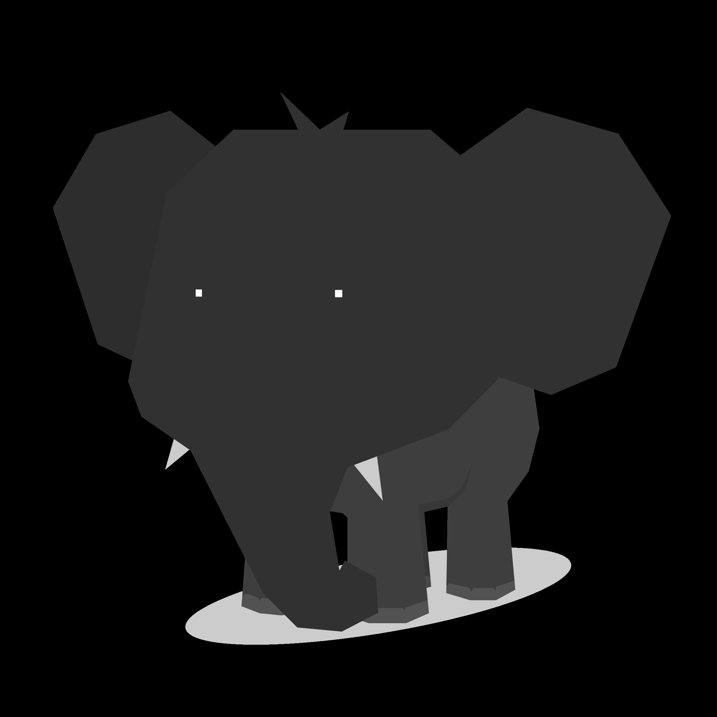 Polygon Elephant Vector file image - Free stock photo ...